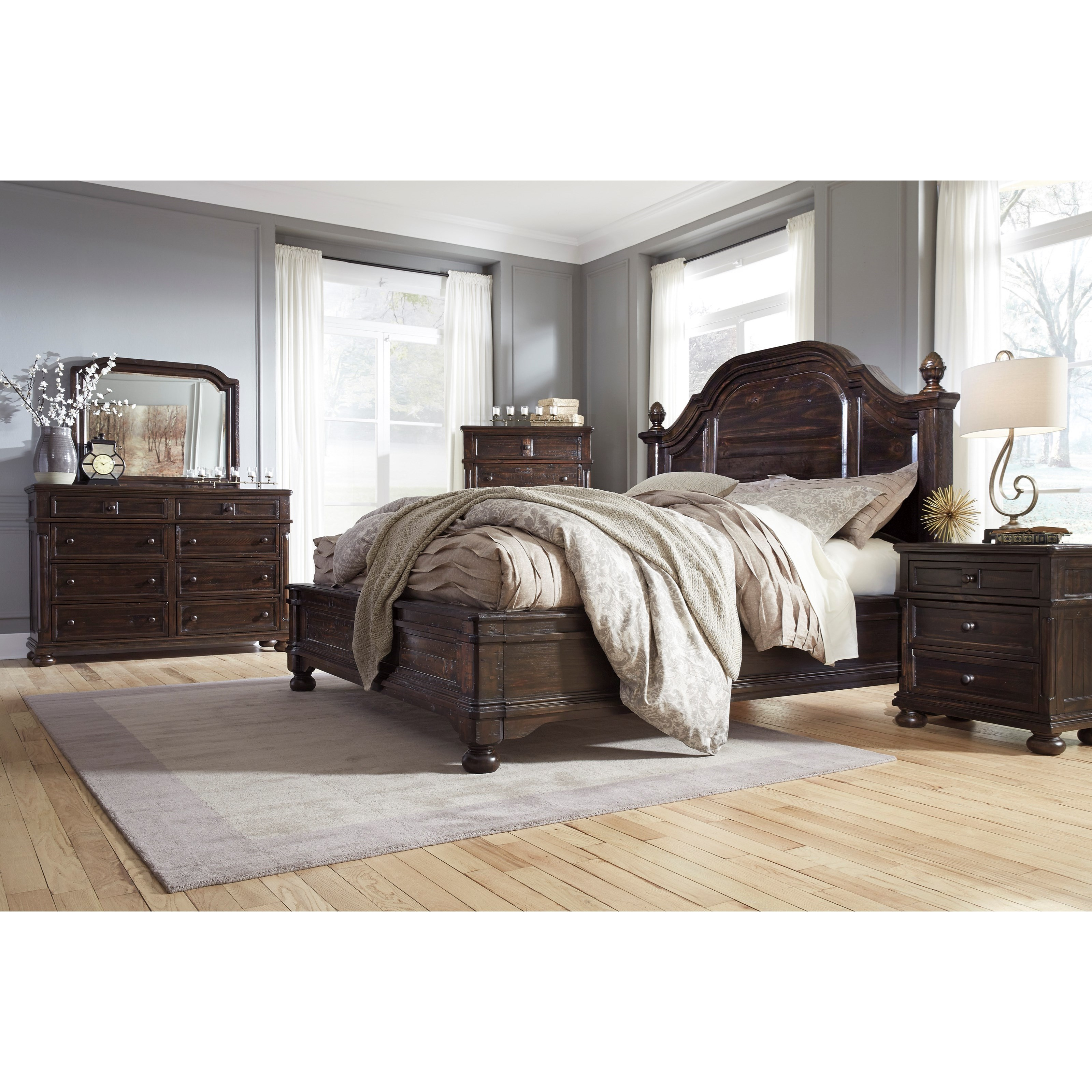 Signature design by ashley gerlane queen bedroom group for Bedroom furniture companies