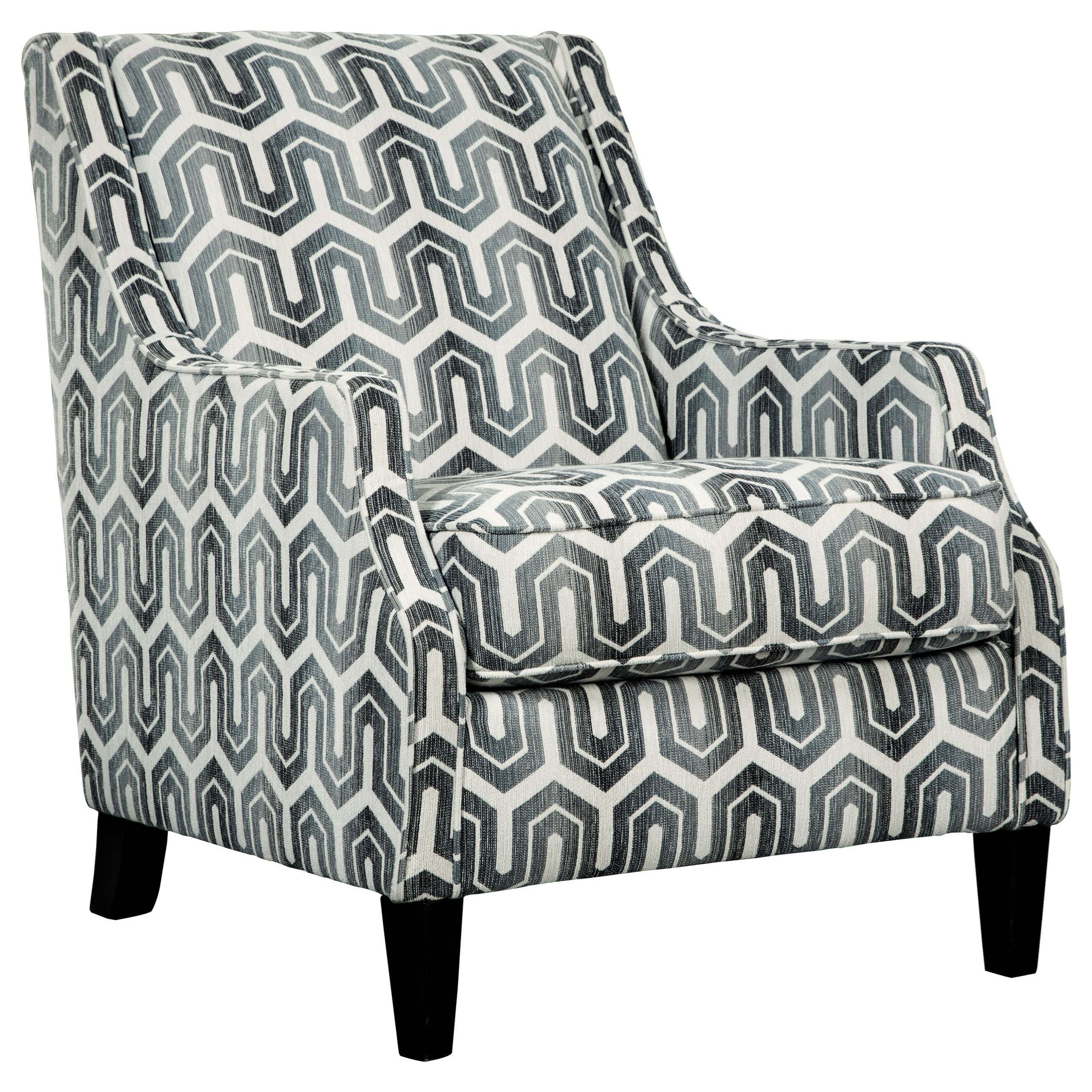 ashley signature design gilmer accent chair in geometric