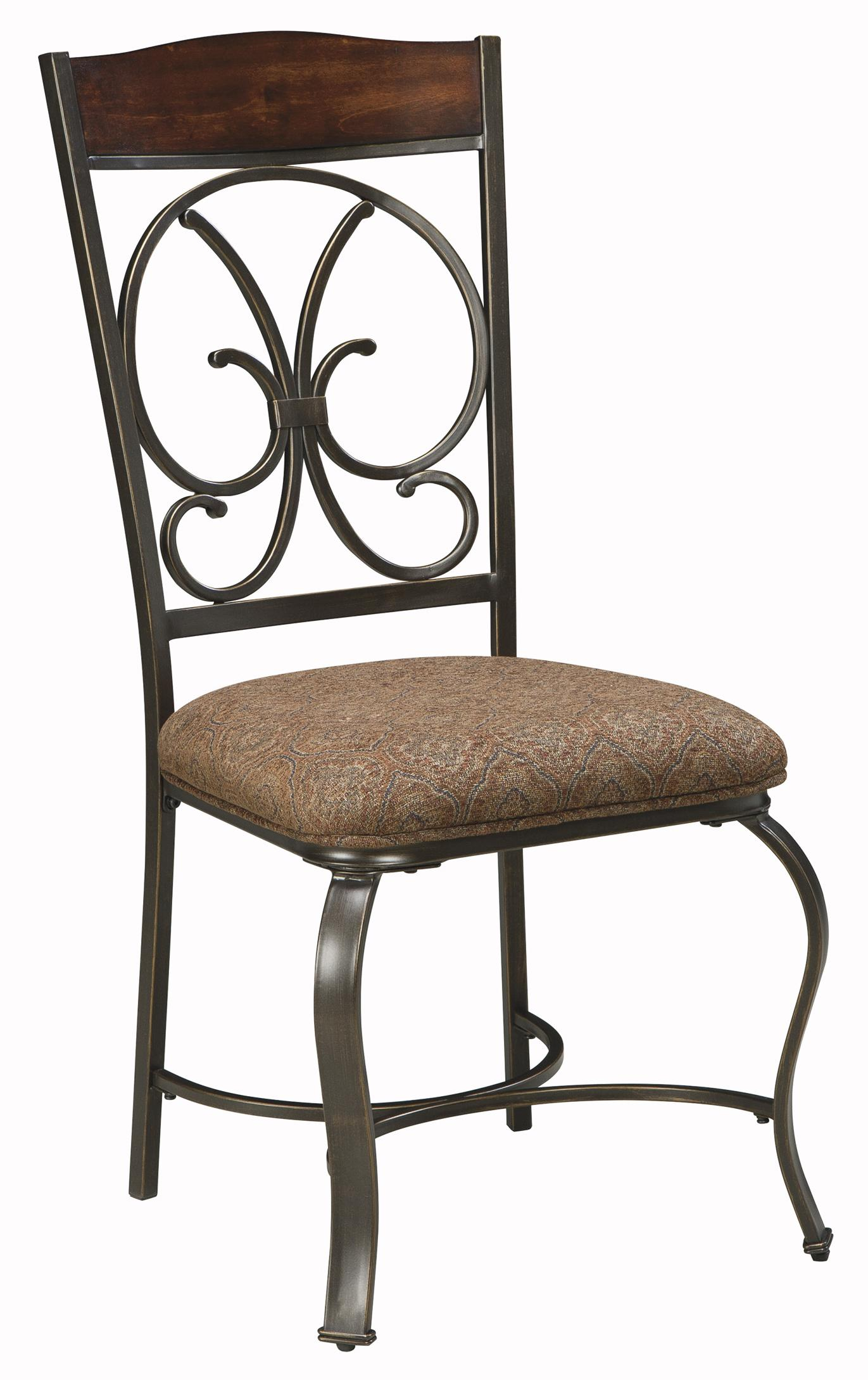 Signature design by ashley glambrey d329 01 dining for Upholstered dining room side chairs