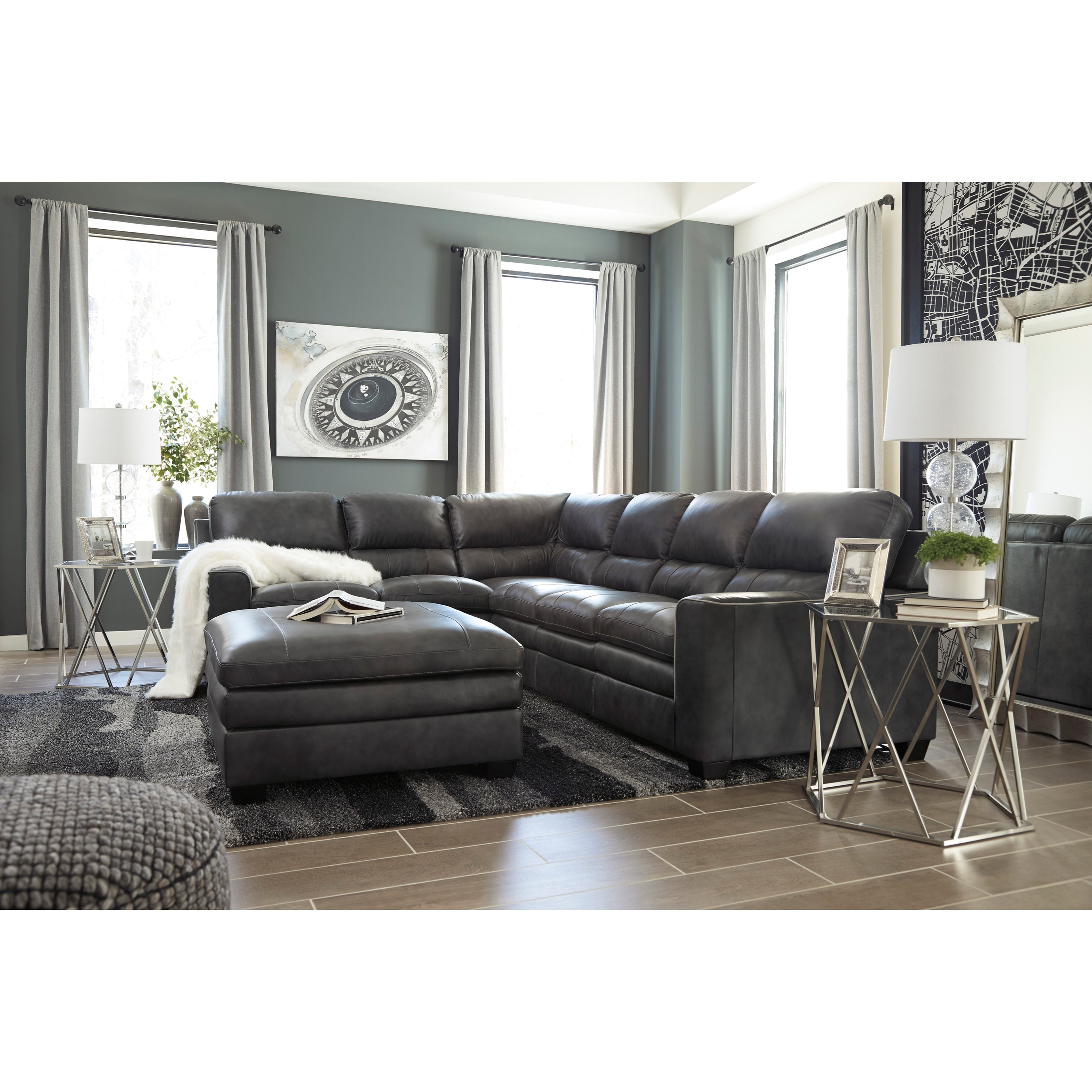 Signature design by ashley gleason stationary living room for Living room furniture groups