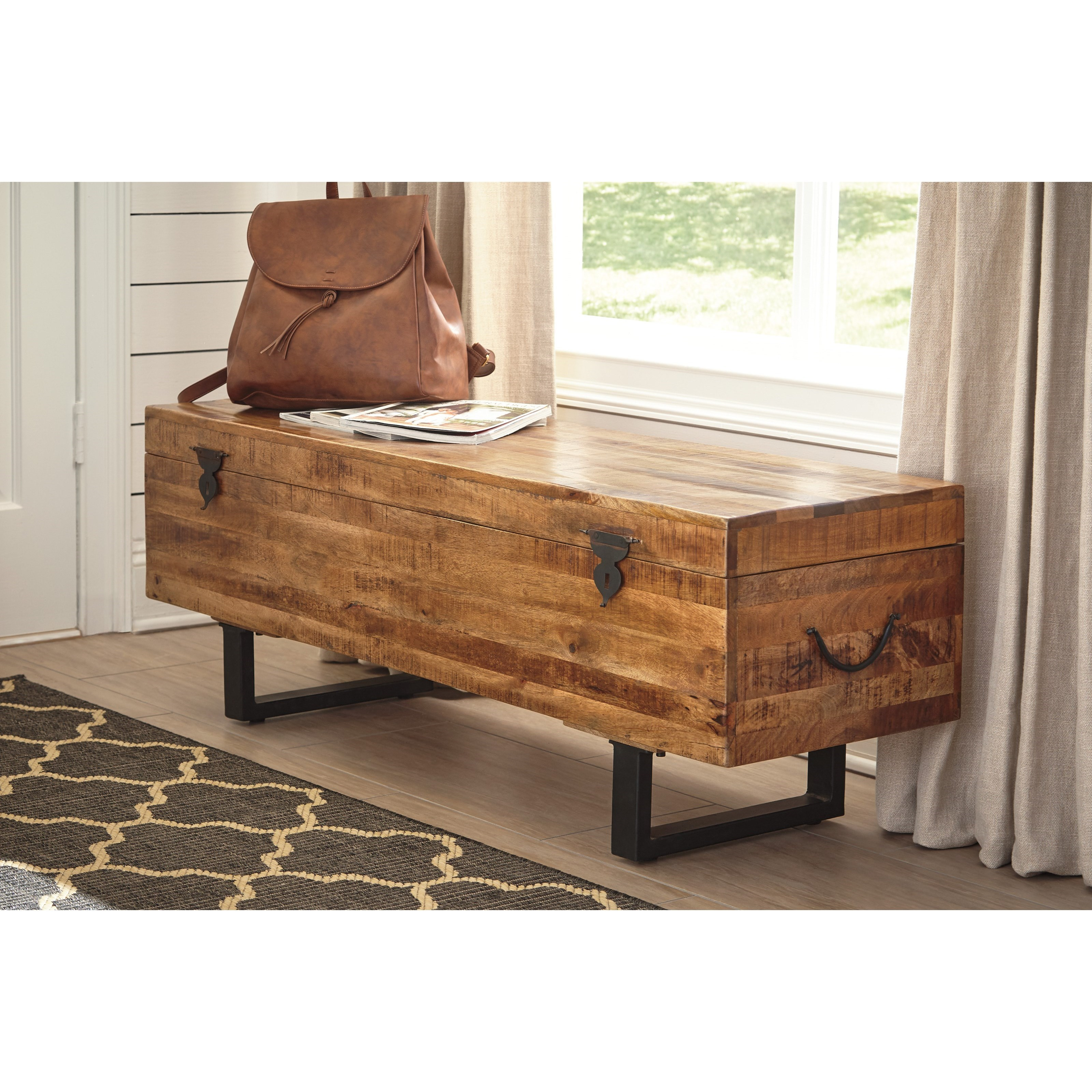 signature design by ashley glosco solid wood mango trunk