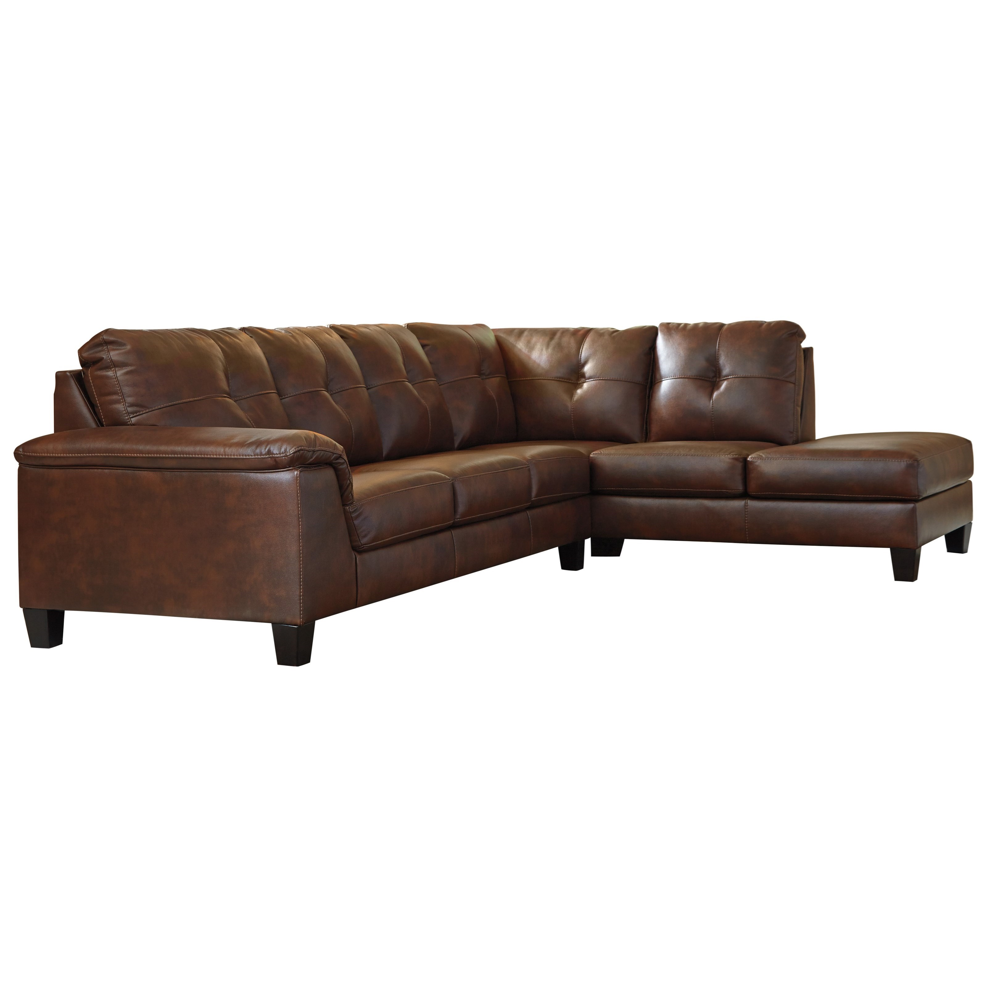 Signature design by ashley goldstone contemporary 2 piece for 2 piece sectional sofa ashley