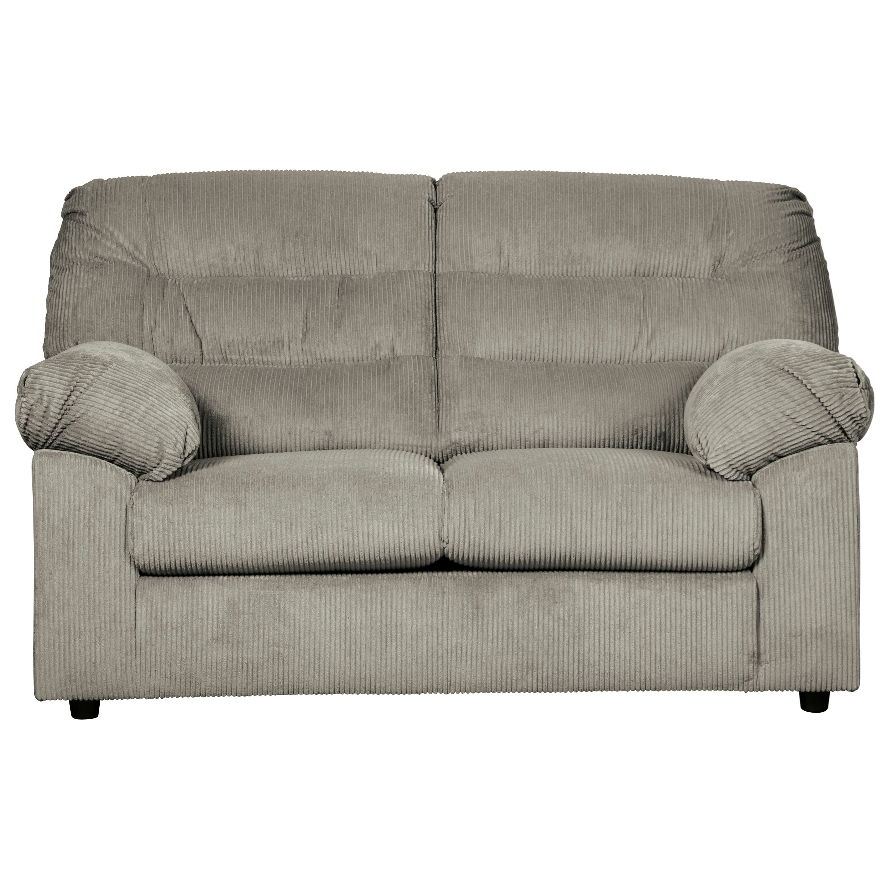 Signature Design By Ashley Gosnell Casual Loveseat With Corduroy Fabric Rife 39 S Home Furniture