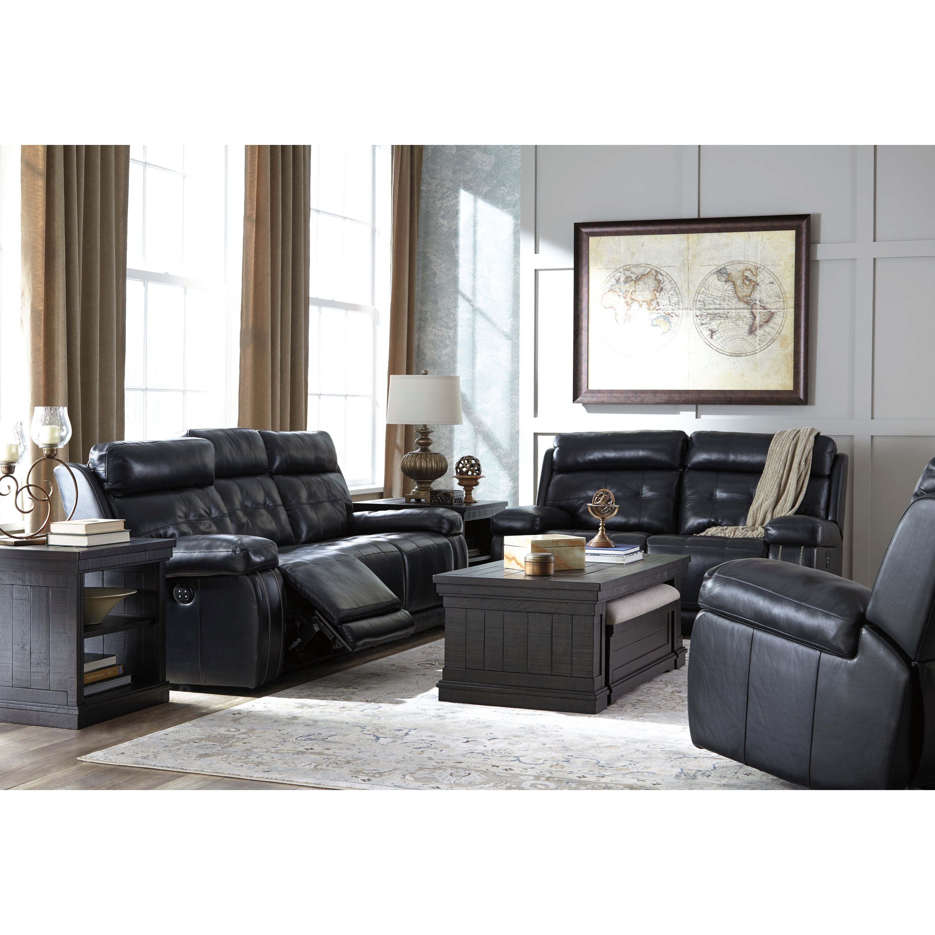 Ashley Signature Design Graford Reclining Living Room Group Dunk Brig