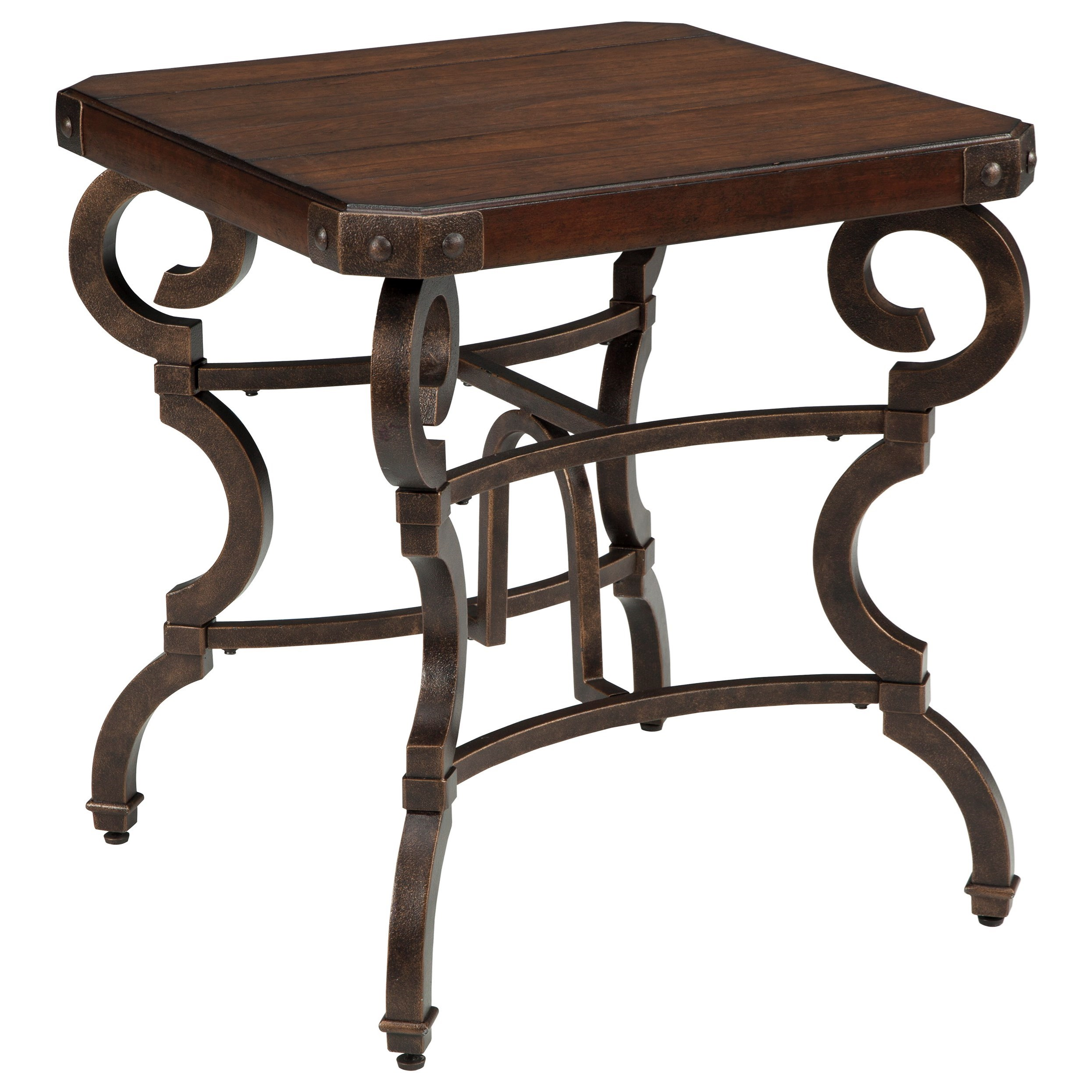 Signature design by ashley hadelyn square end table with for Ivan smith furniture