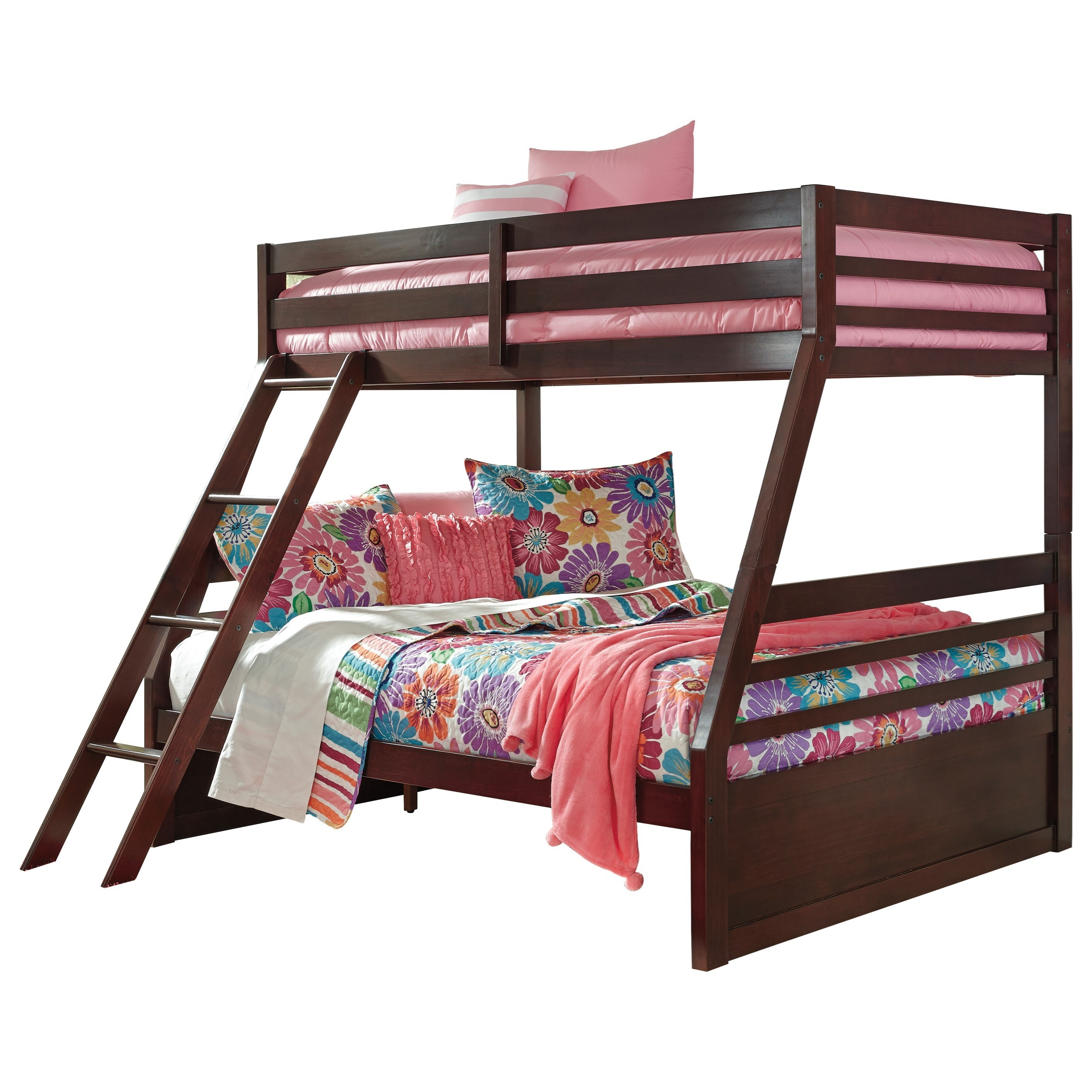 Signature Design By Ashley Halanton Solid Pine Twin Full Bunk Bed Del Sol Furniture Bunk Beds
