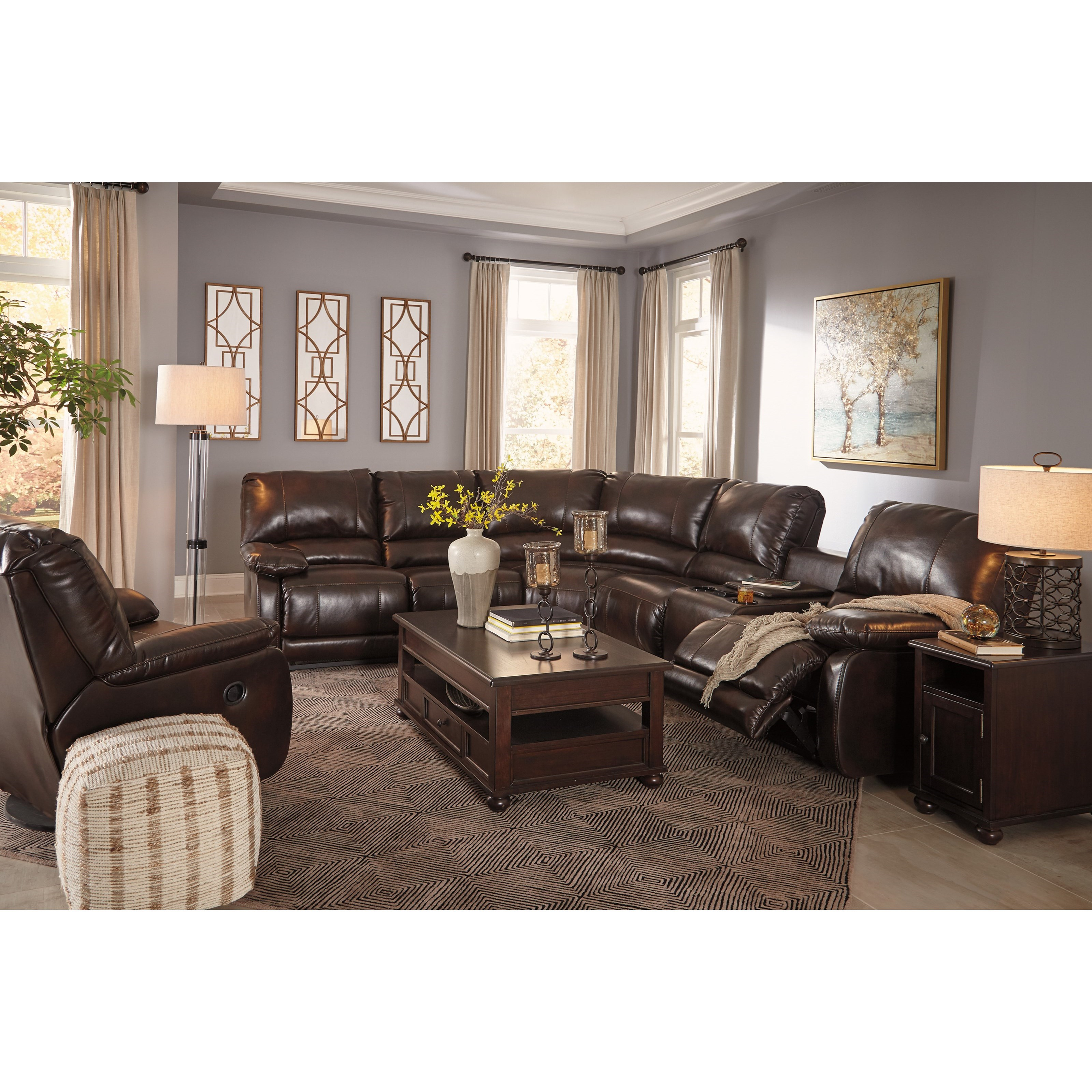 Signature Design By Ashley Hallettsville Reclining Living Room Group Olinde 39 S Furniture