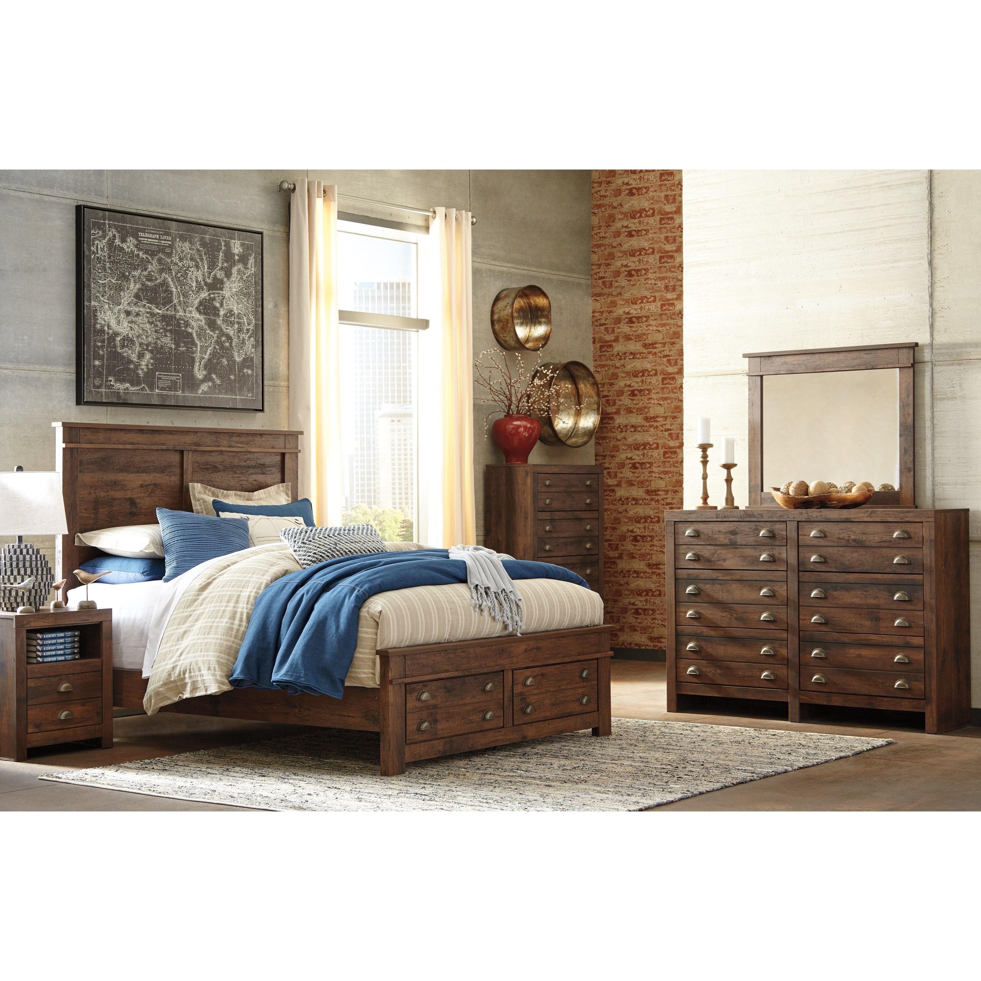 Signature Design by Ashley Hammerstead Queen Bedroom Group Olinde s Fur