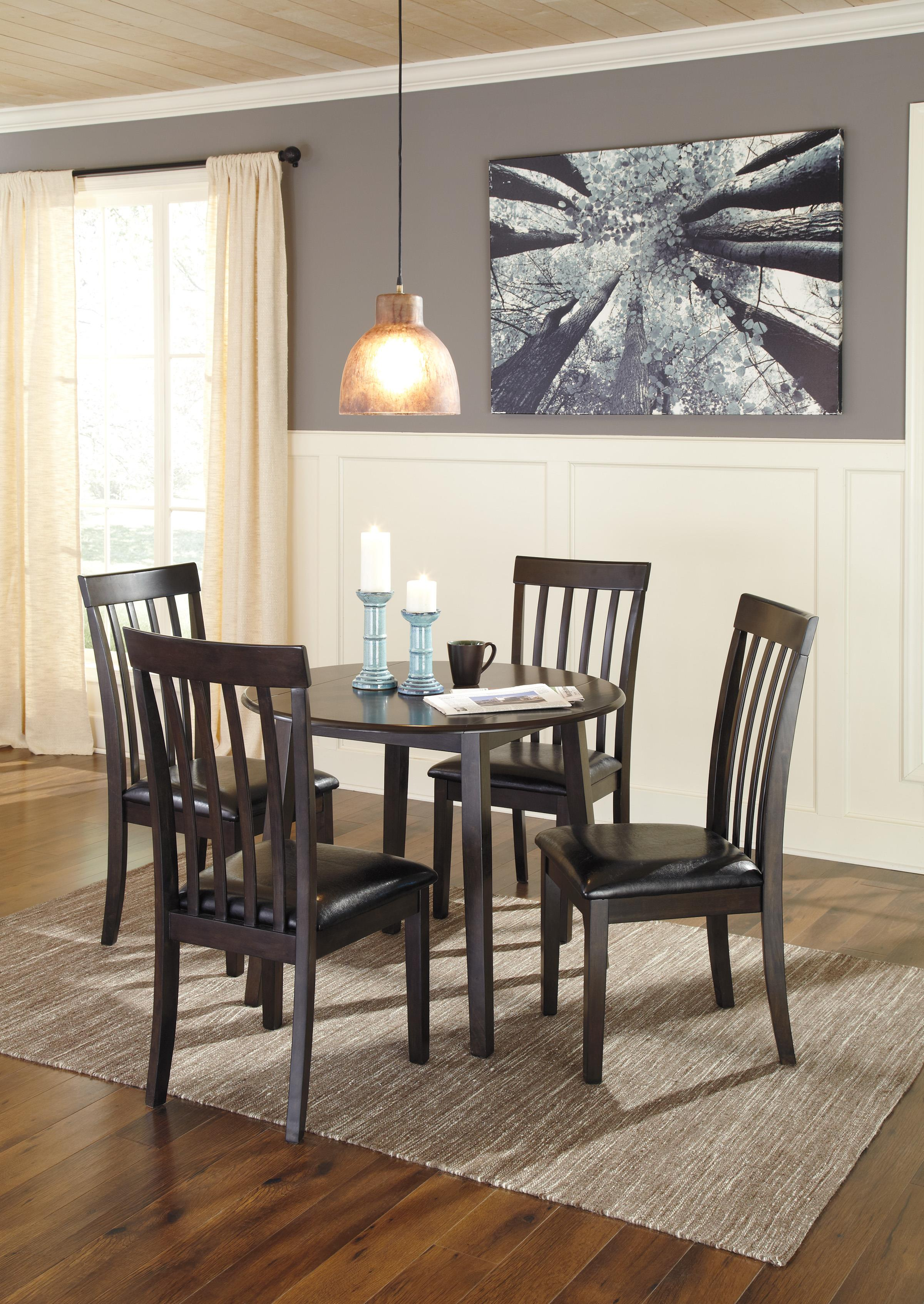 dining 5 piece set ashley signature design hammis 5 piece round drop