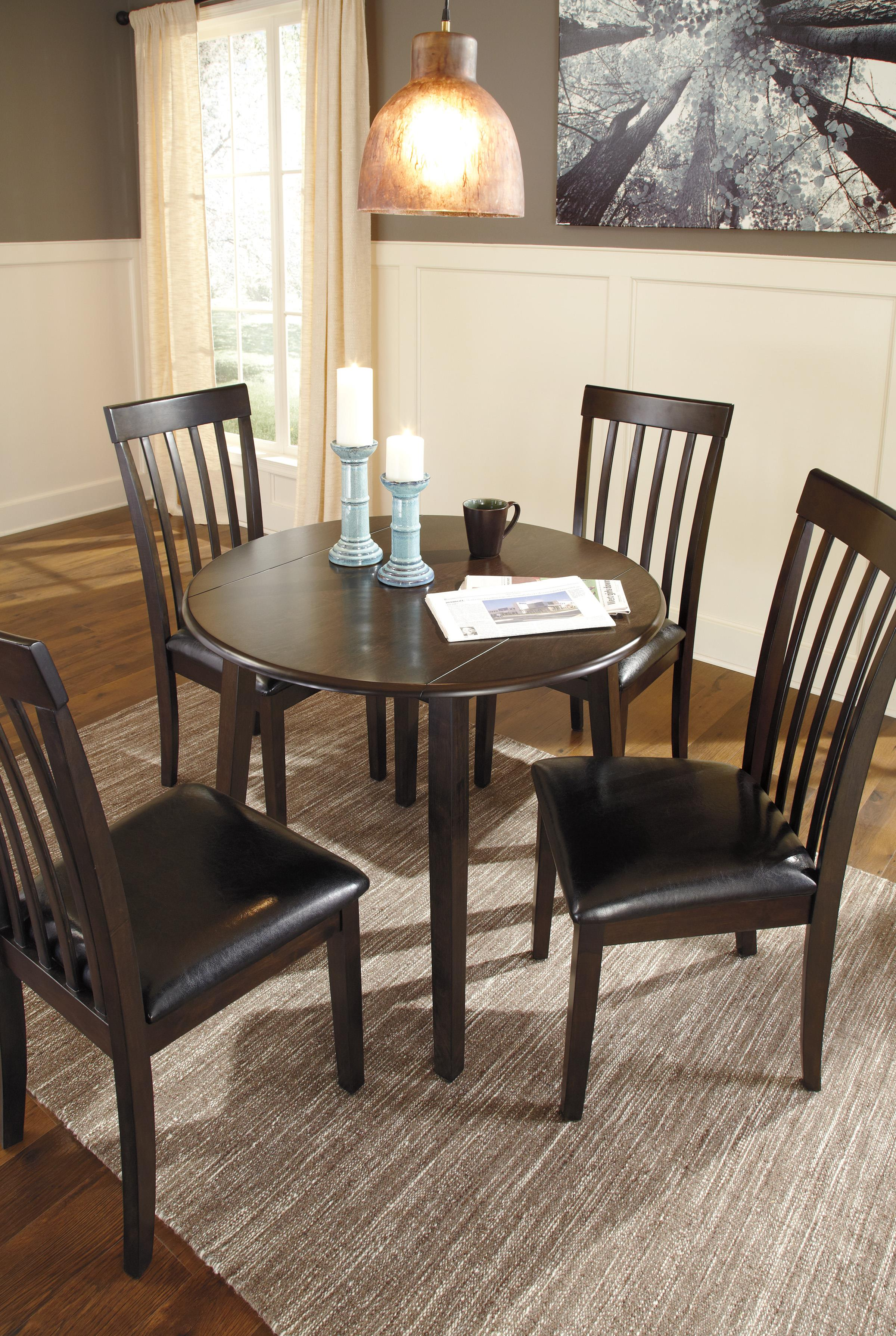 signature design by ashley hammis round dining room drop leaf table royal furniture kitchen. Black Bedroom Furniture Sets. Home Design Ideas