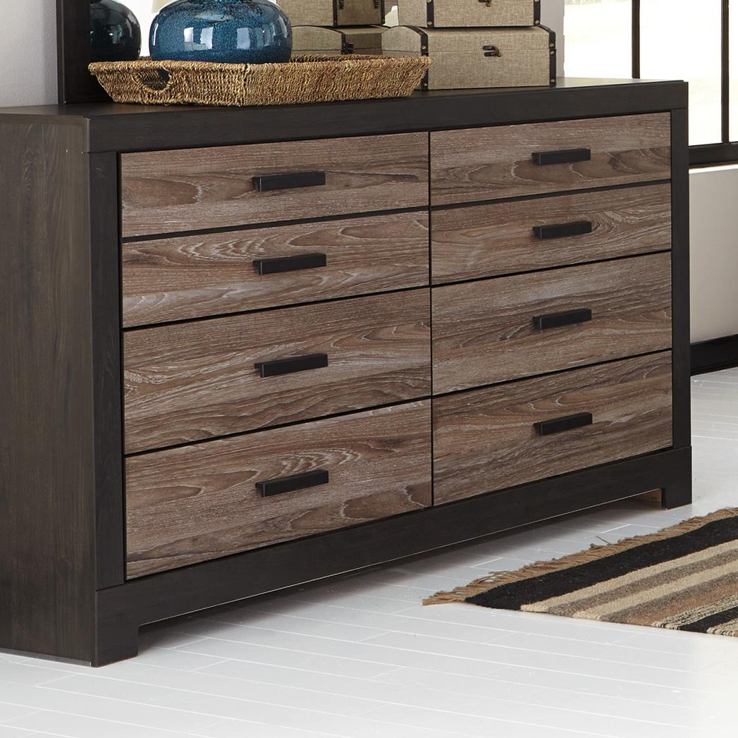 Ashley Signature Design Harlinton B325 31 Rustic Two Tone Dresser Dunk Bright Furniture