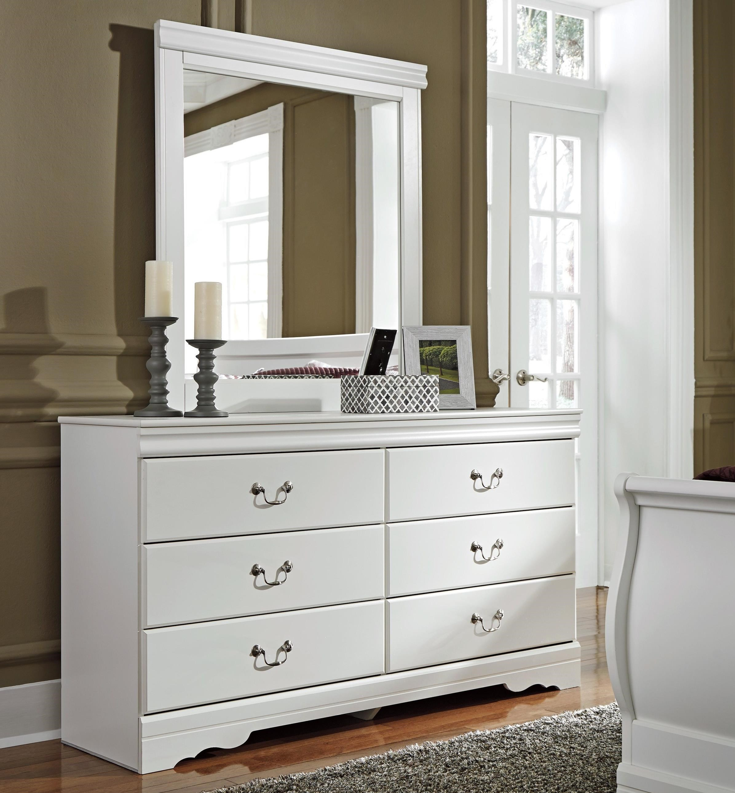 Anarasia Dresser and Mirror Combination by Signature Design by Ashley at Smart Buy Furniture