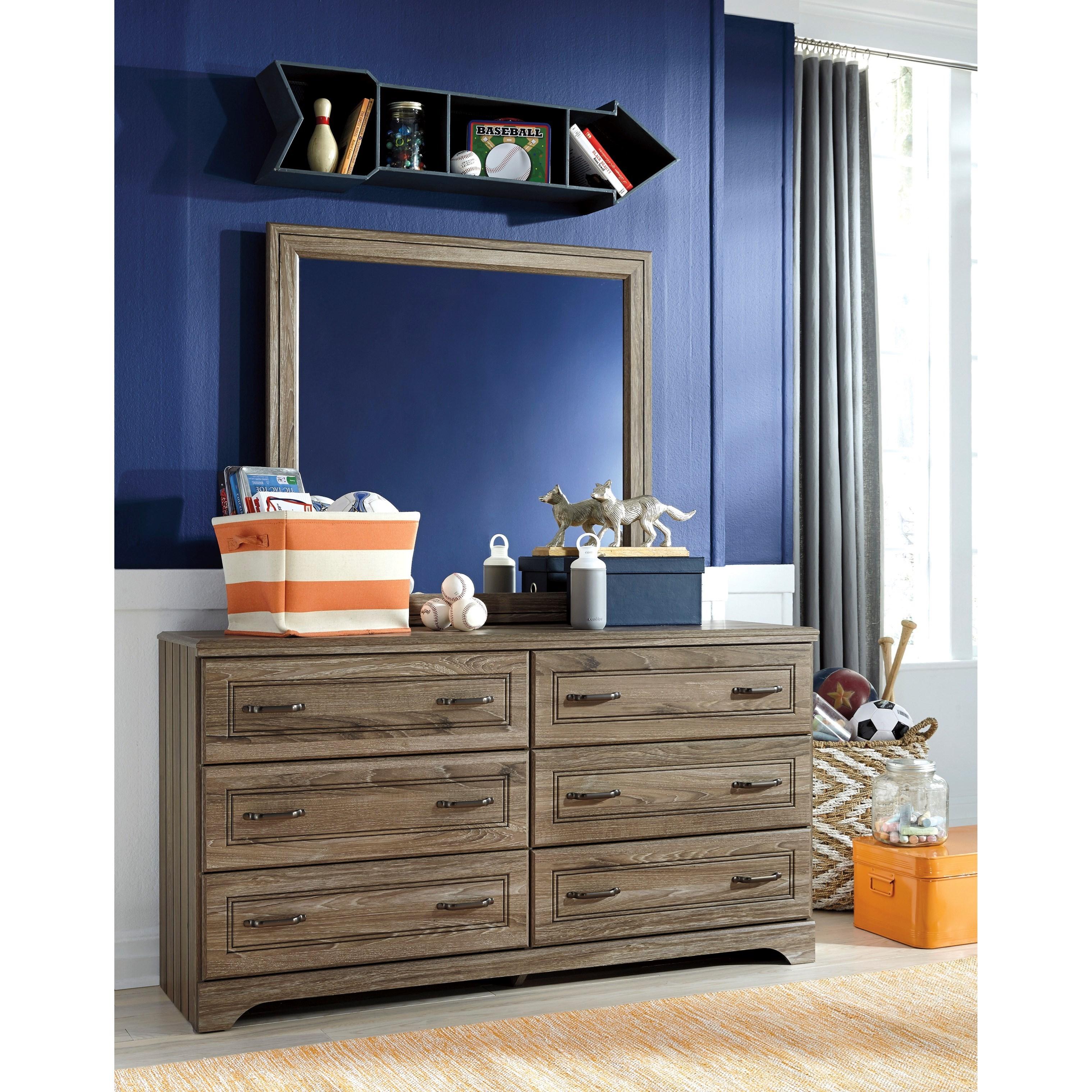 Signature Design by Ashley Javarin Dresser & Bedroom Mirror Beck s