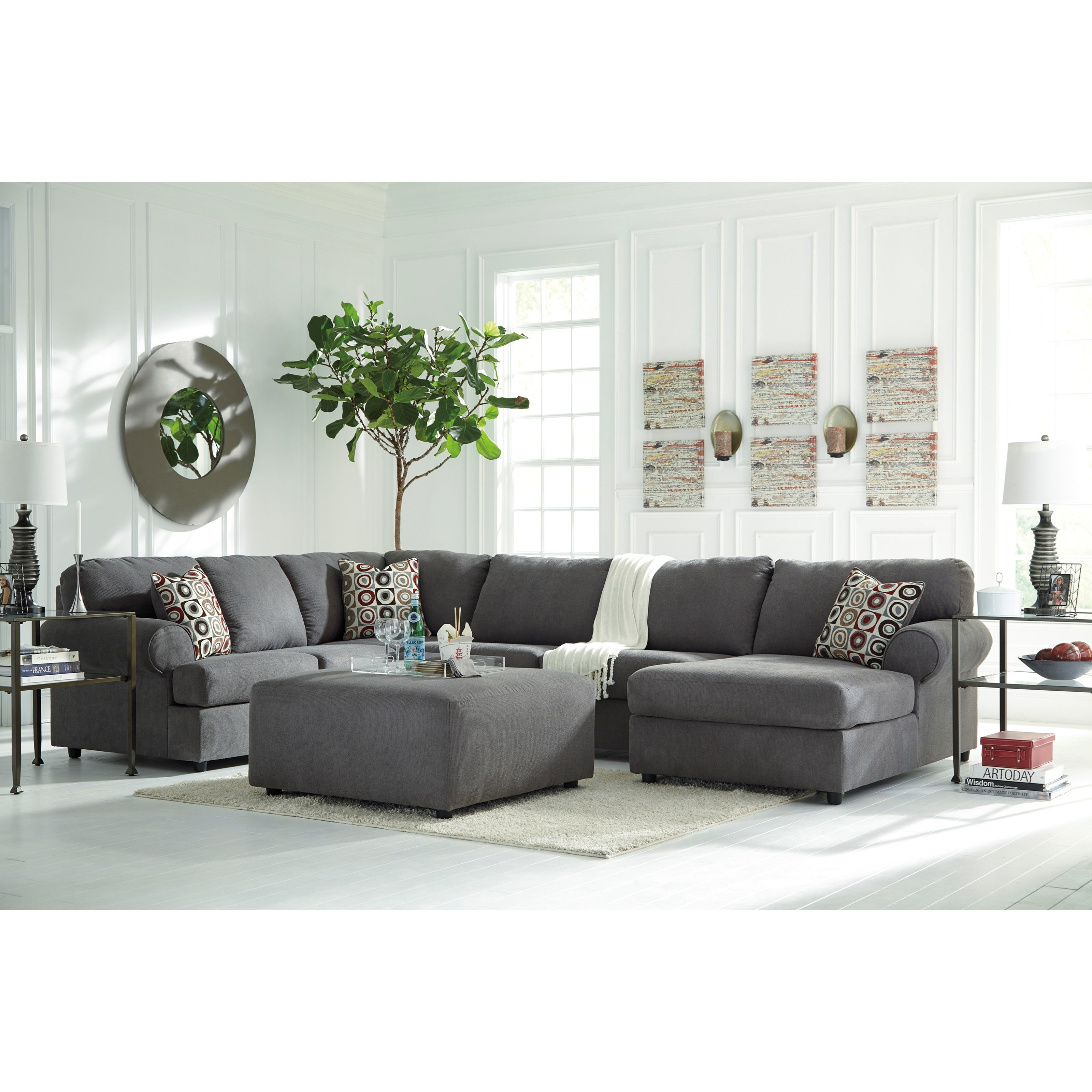 Signature design by ashley jayceon stationary living room for Room store furniture