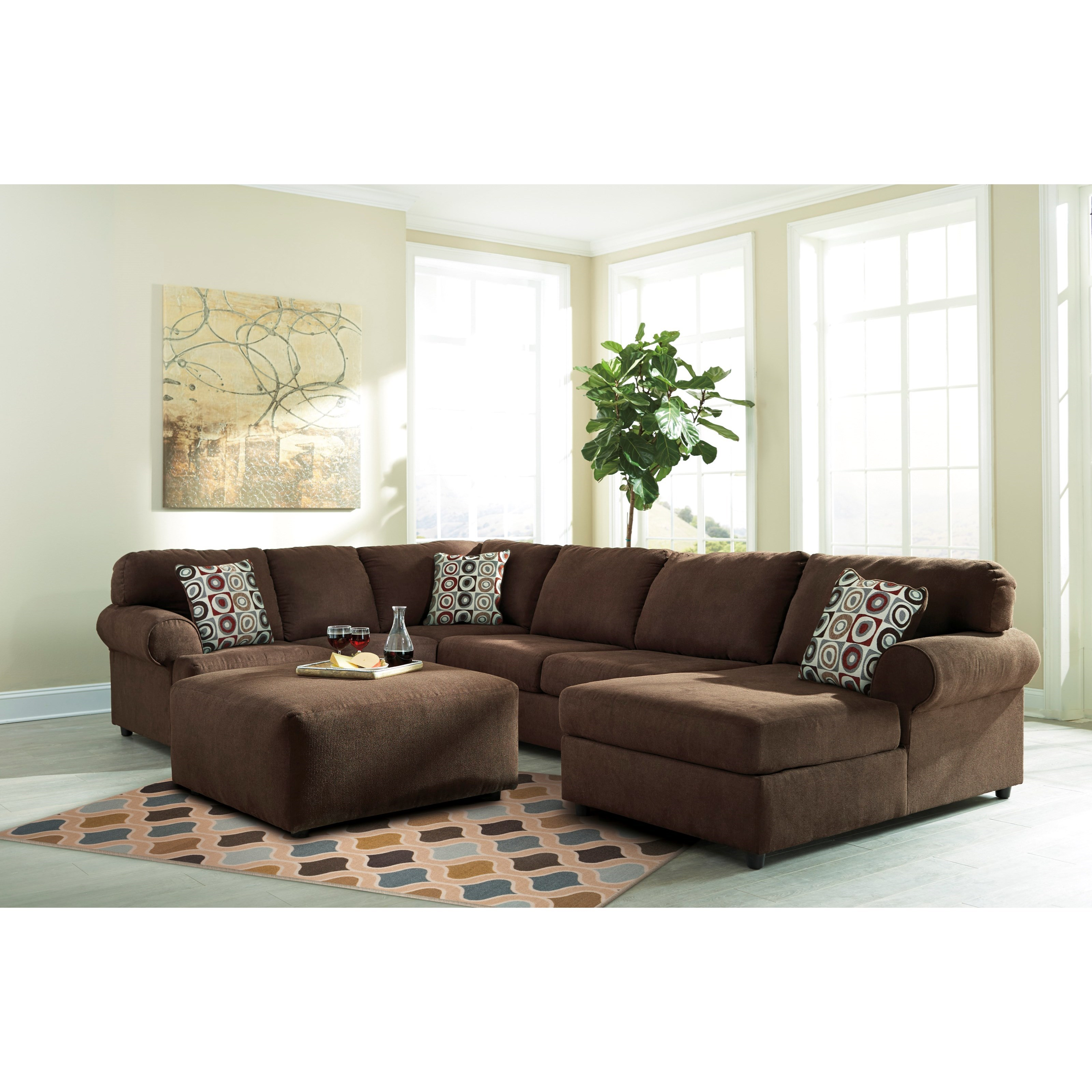 Signature design by ashley jayceon stationary living room for Living room furniture groups