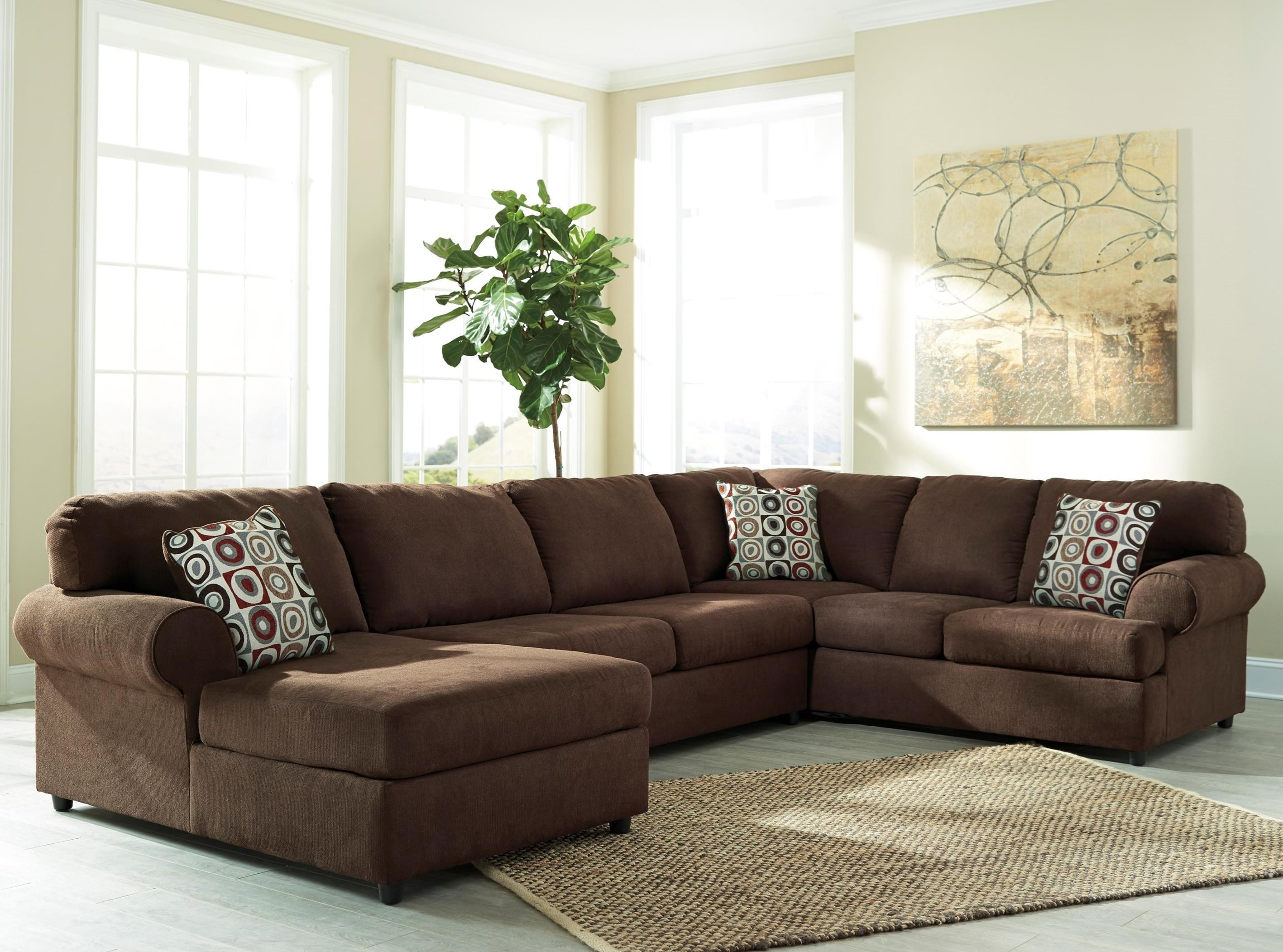 Signature design by ashley jayceon 3 piece sectional with for Ashley large sectional sofa