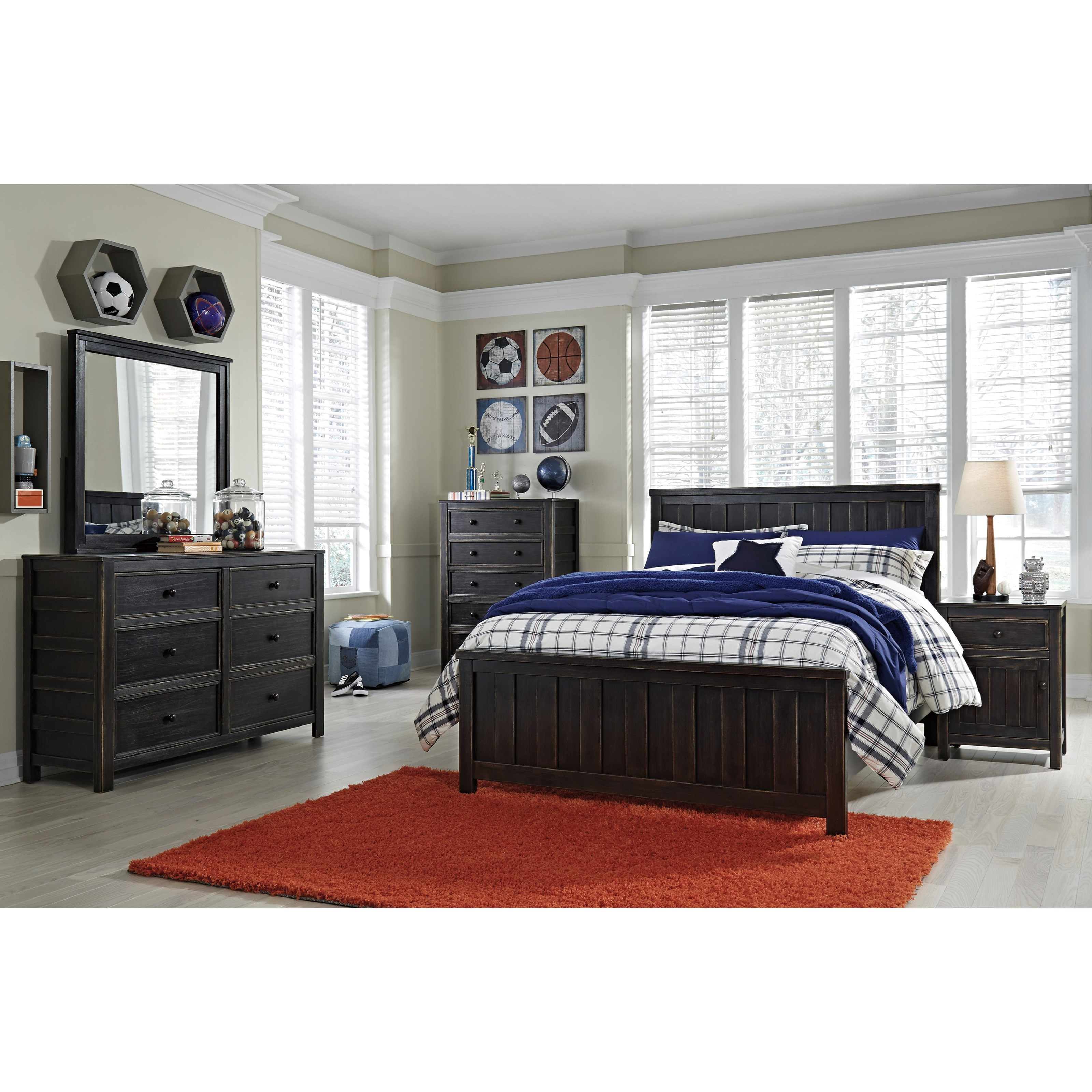 Ashley signature design jaysom full bedroom group dunk for Bedroom furniture groups