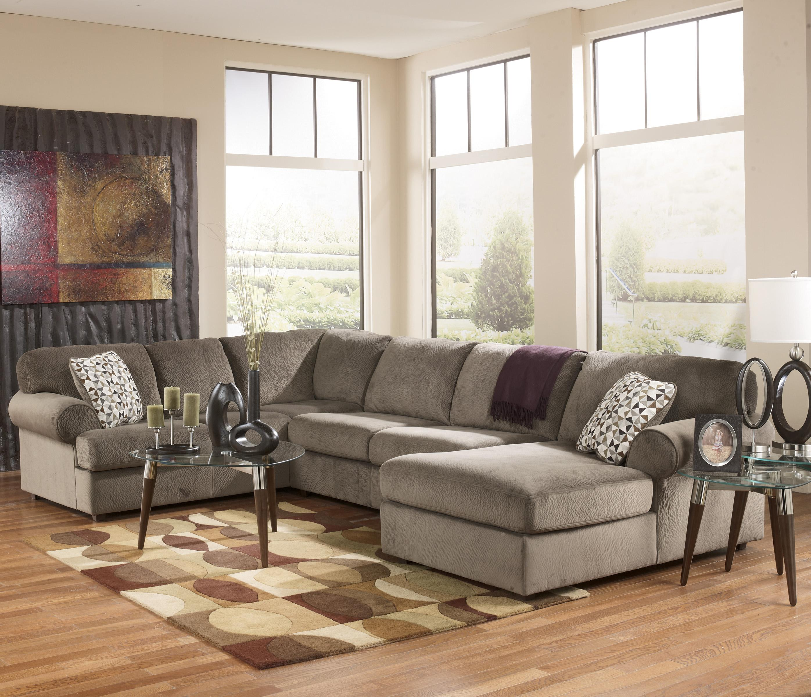 Signature design by ashley jessa place dune casual for Chaise 2 places