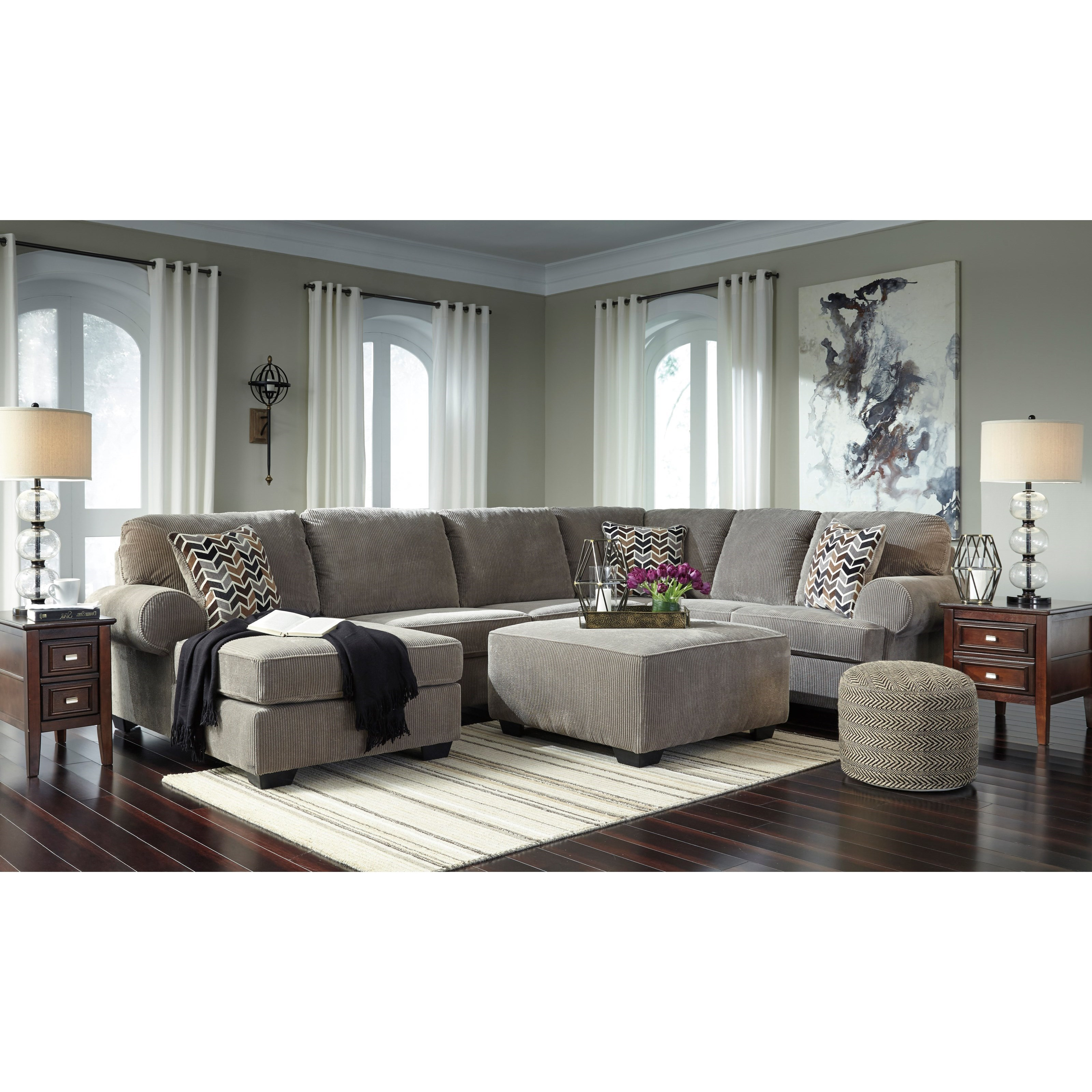 Signature design by ashley jinllingsly stationary living for Living room furniture groups