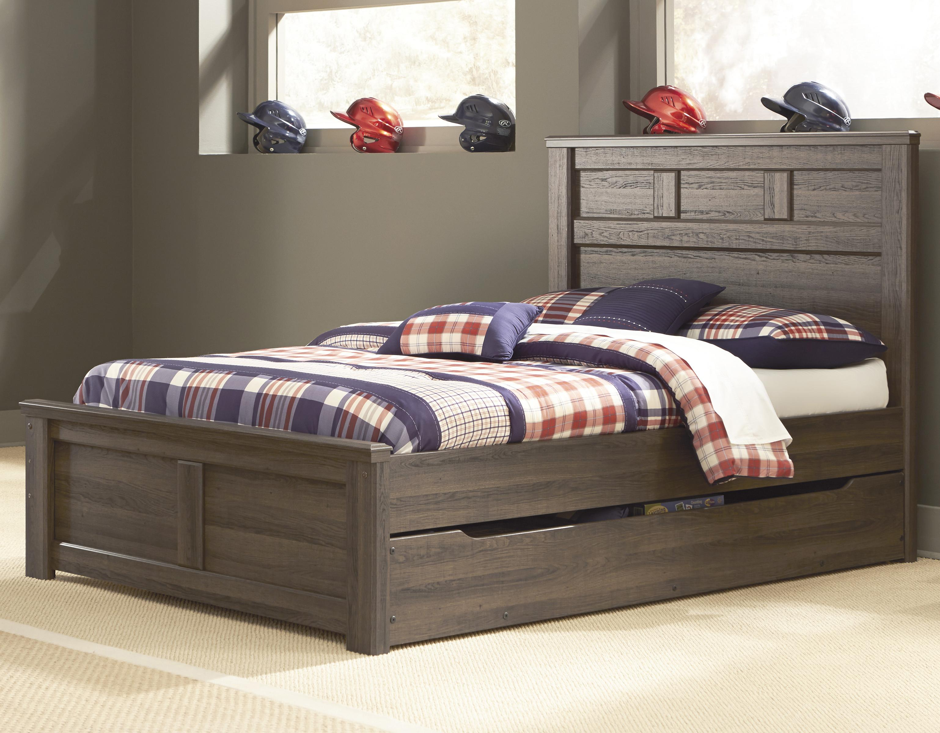 Signature Design By Ashley Juararo Transitional Full Panel Bed W Under Bed Storage Olinde 39 S