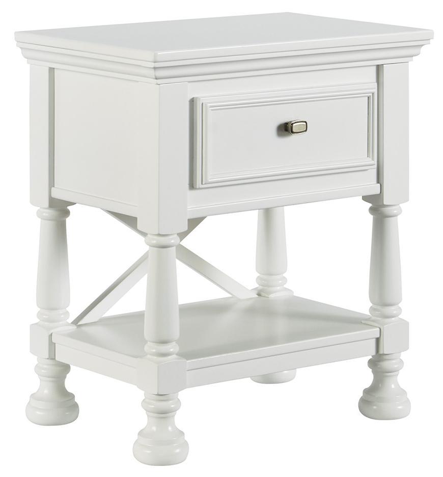 signature design by ashley kaslyn b502 91 one drawer night. Black Bedroom Furniture Sets. Home Design Ideas
