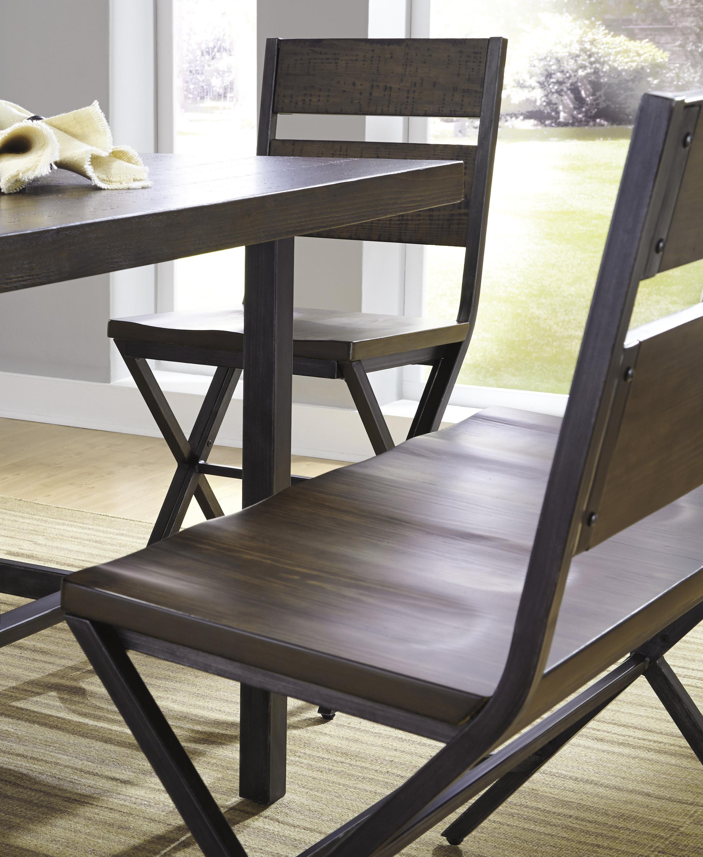 Signature design by ashley dakota d469 124 medium brown for Furniture 124