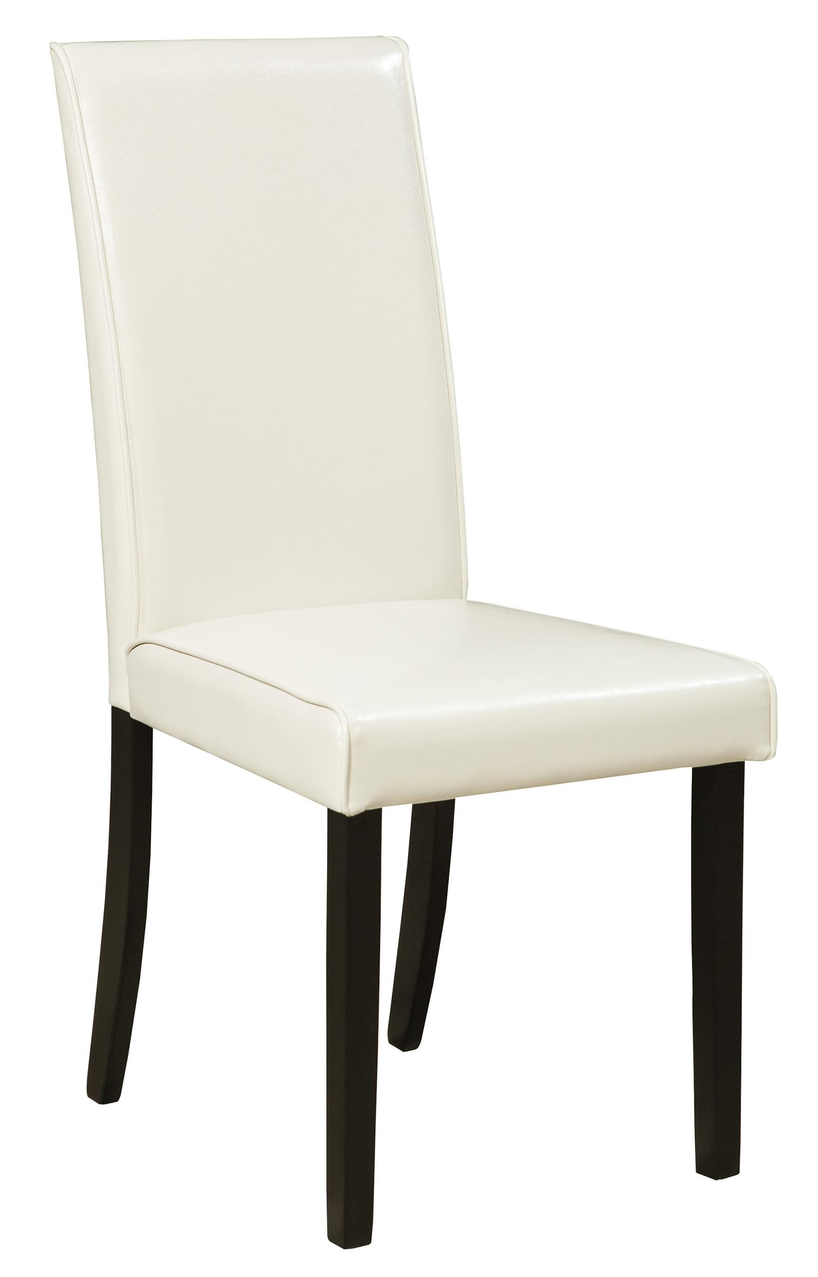 Signature design by ashley kimonte d250 01 dining for Upholstered dining room side chairs