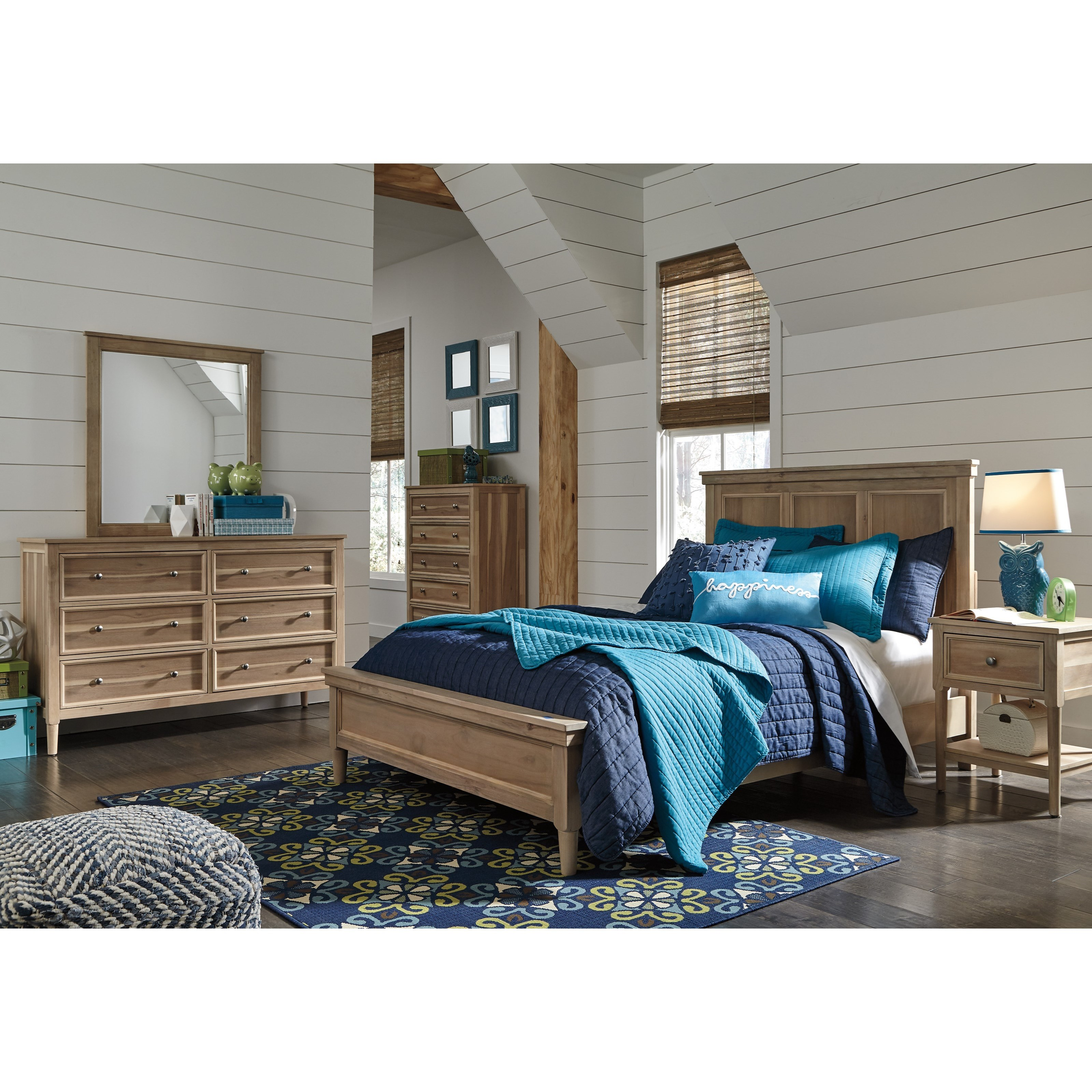 Signature design by ashley klasholm queen bedroom group for Bedroom furniture groups
