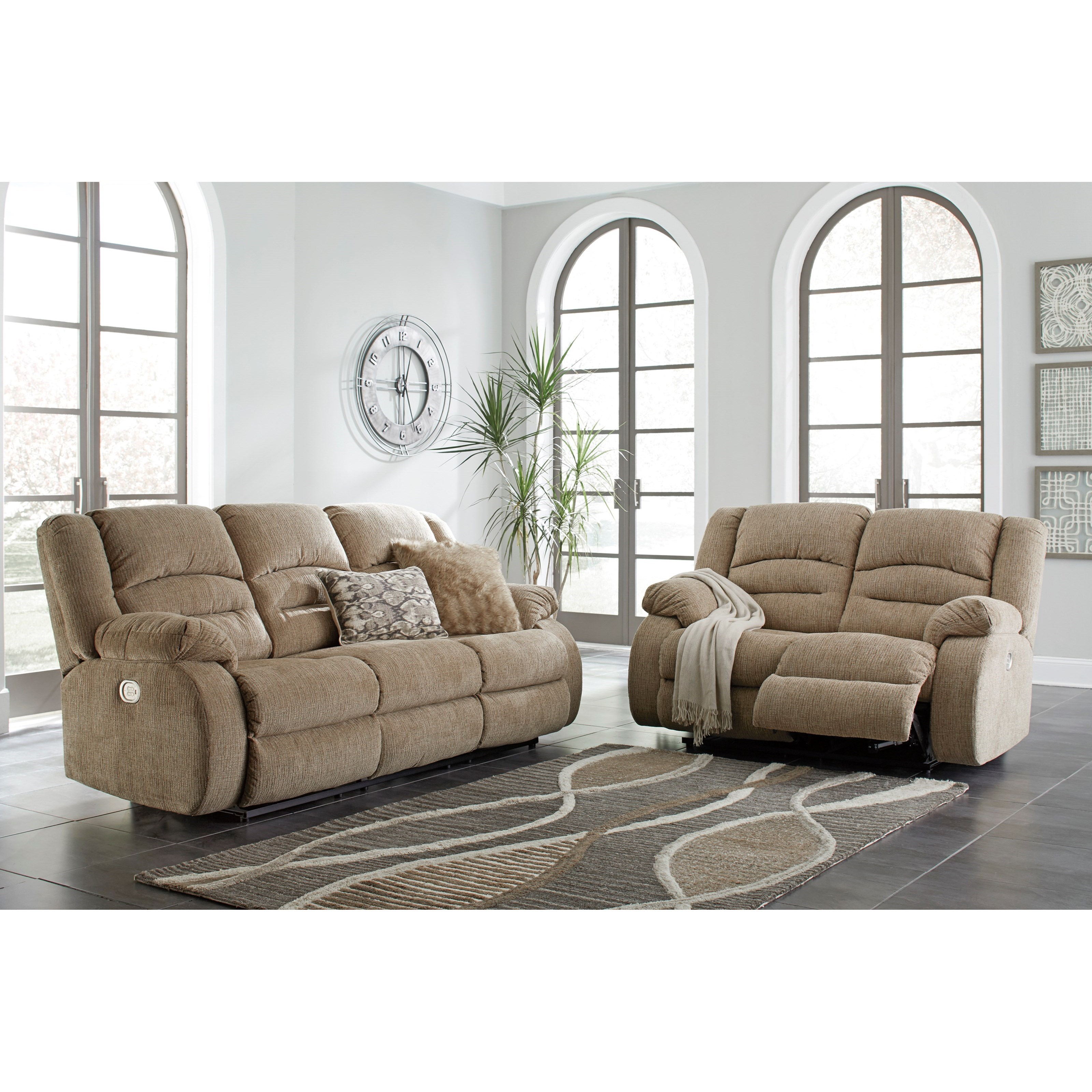 Styleline labarre reclining living room group efo furniture outlet reclining living room groups for Ashley wilkes bedroom collection