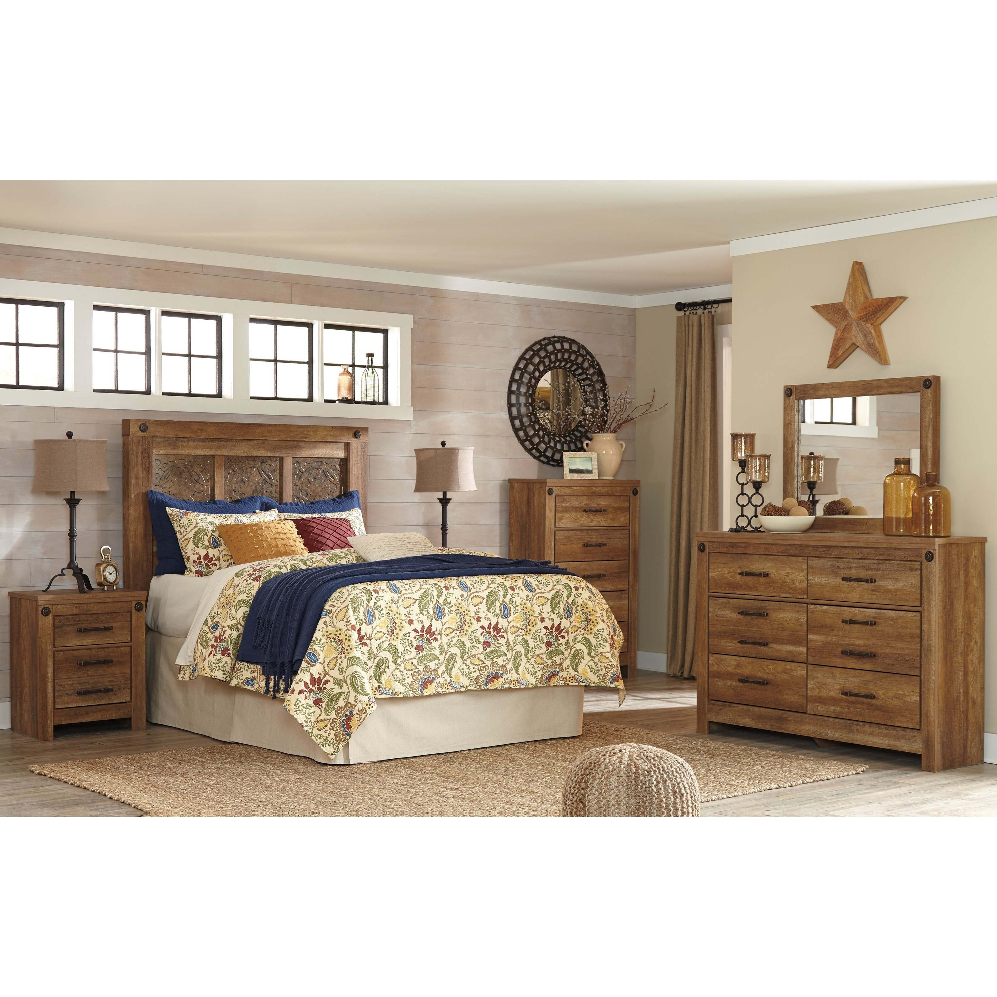 signature design by ashley furniture ladimier queen bedroom group sam 39 s appliance furniture. Black Bedroom Furniture Sets. Home Design Ideas