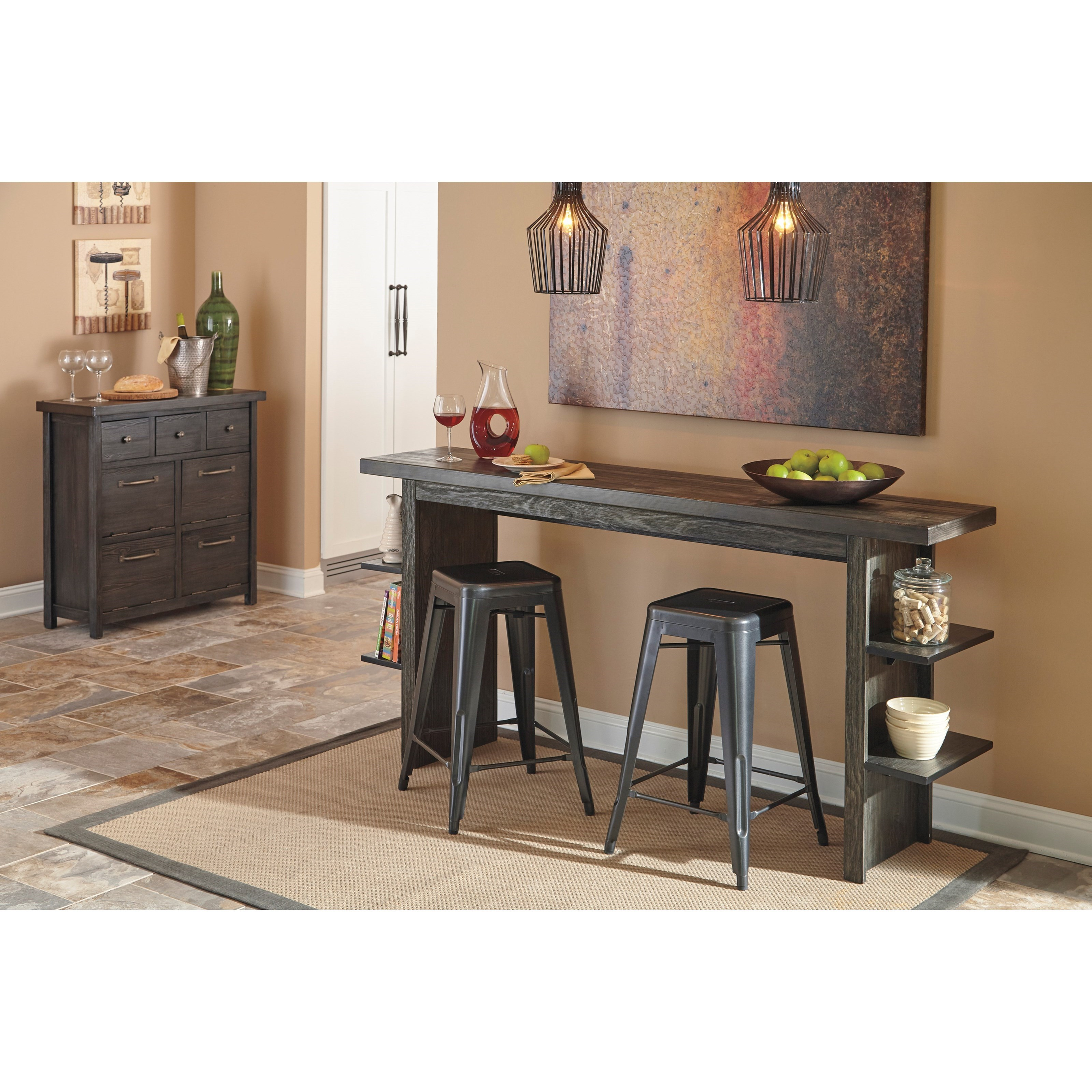 Signature design by ashley lamoille casual dining room for Casual dining decor
