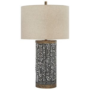 Signature Design Lamps Contemporary Leolyn Black Brown