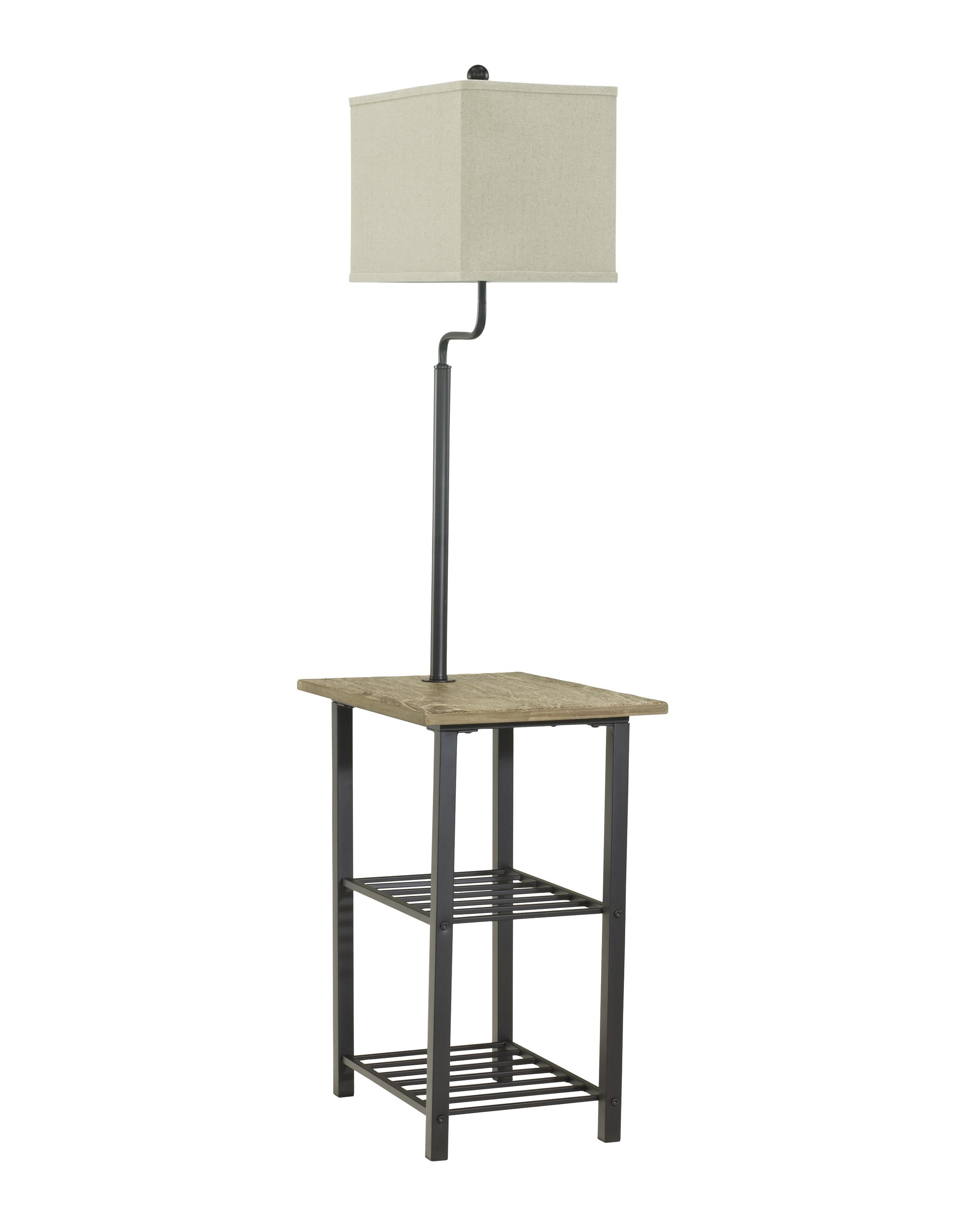 signature design by ashley lamps vintage style metal tray lamp. Black Bedroom Furniture Sets. Home Design Ideas