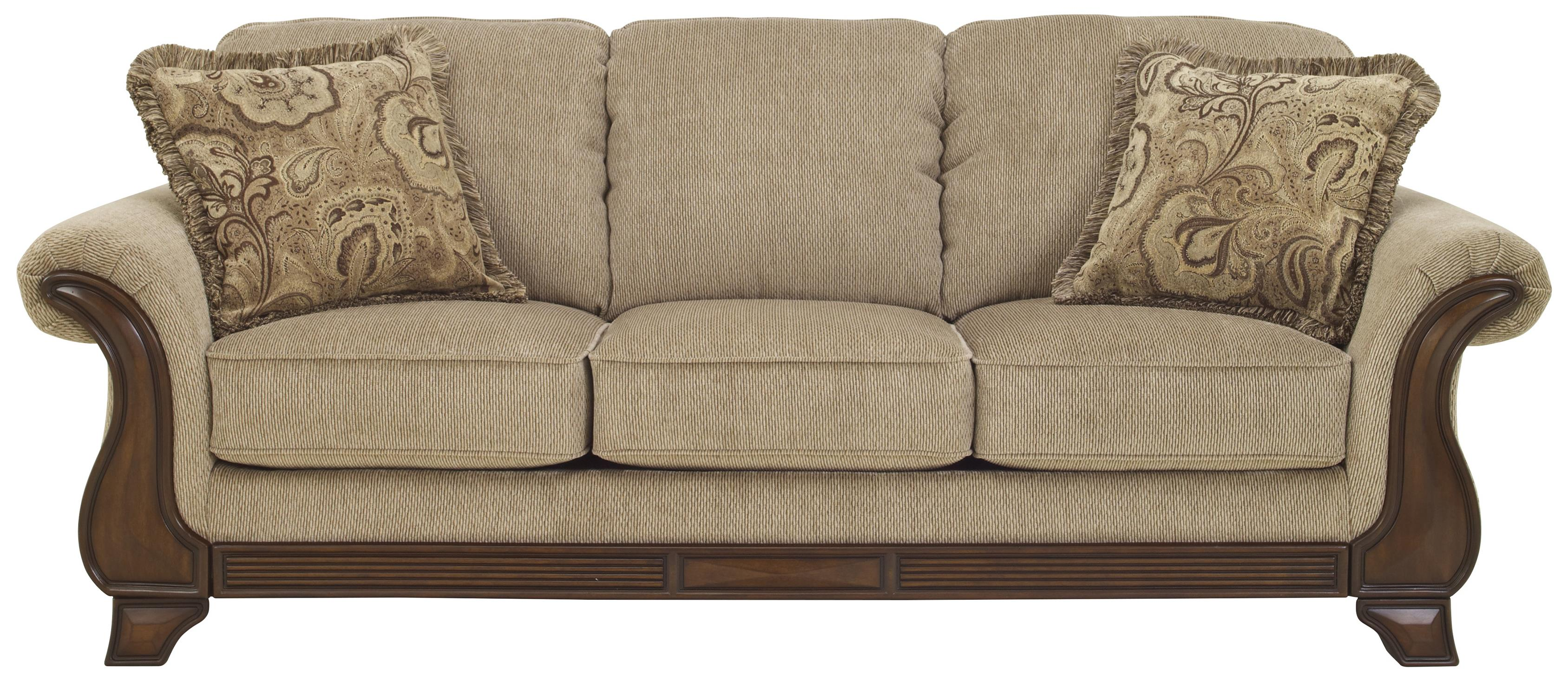 Signature design by ashley lanett sofa with flared arms for Signature design by ashley sofa
