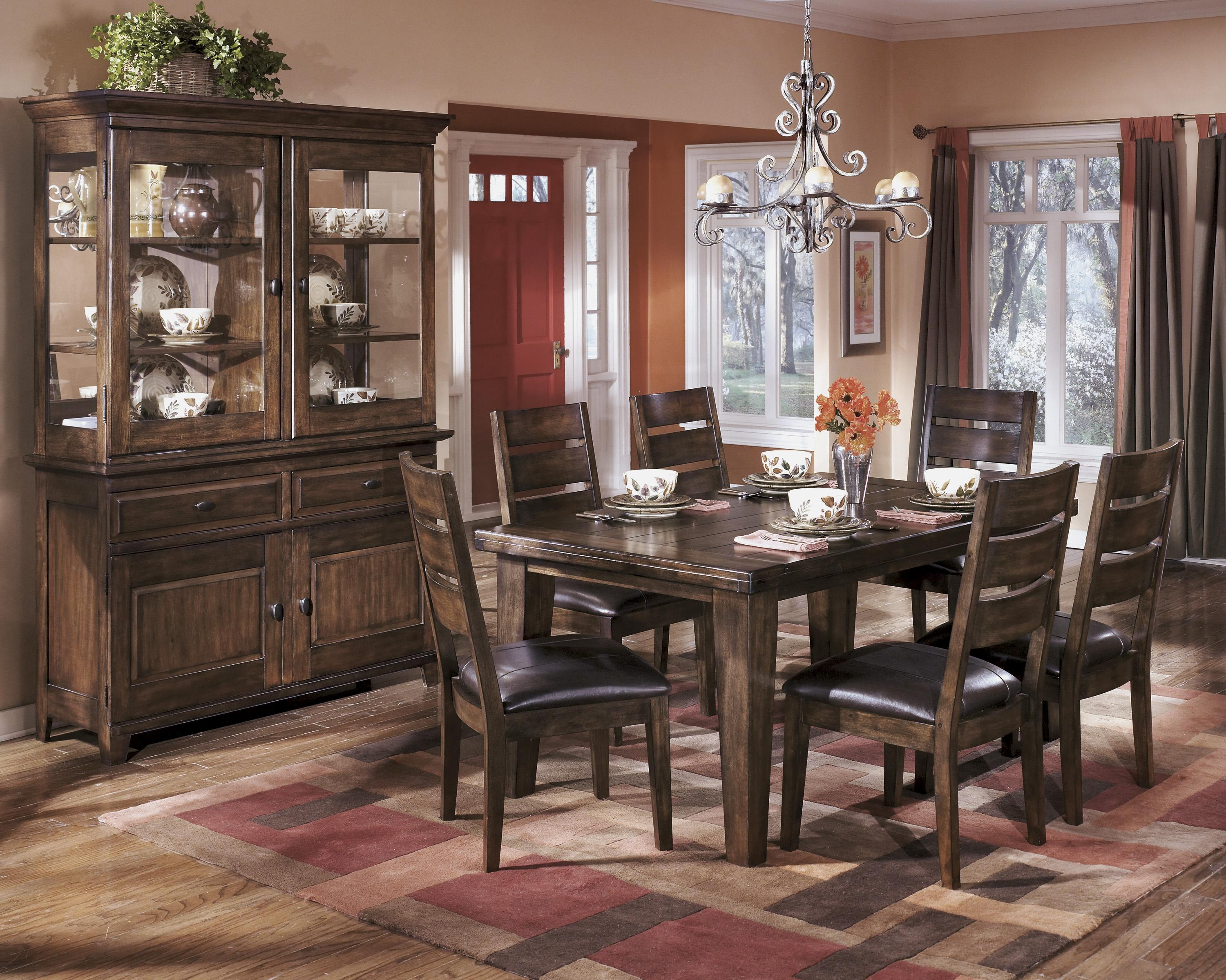 signature design by ashley larchmont casual dining room group olinde 39 s furniture casual. Black Bedroom Furniture Sets. Home Design Ideas