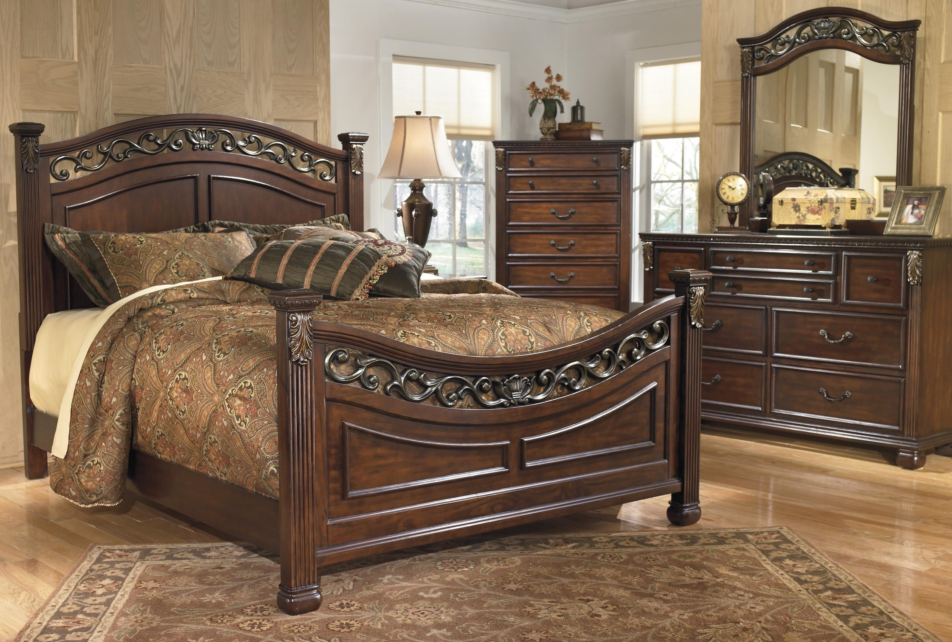 Signature Design By Ashley Leahlyn Queen 5 Piece Bedroom Group Royal Furniture Bedroom Groups