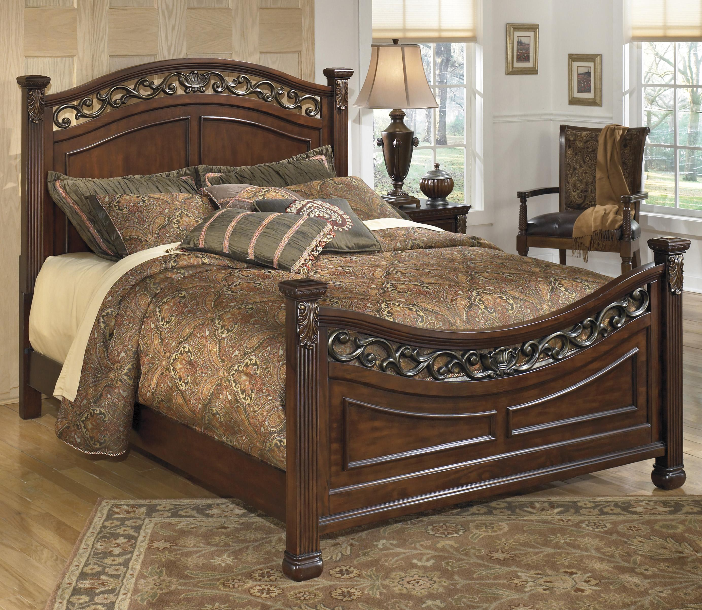 Signature design by ashley leahlyn traditional king panel for King size footboard