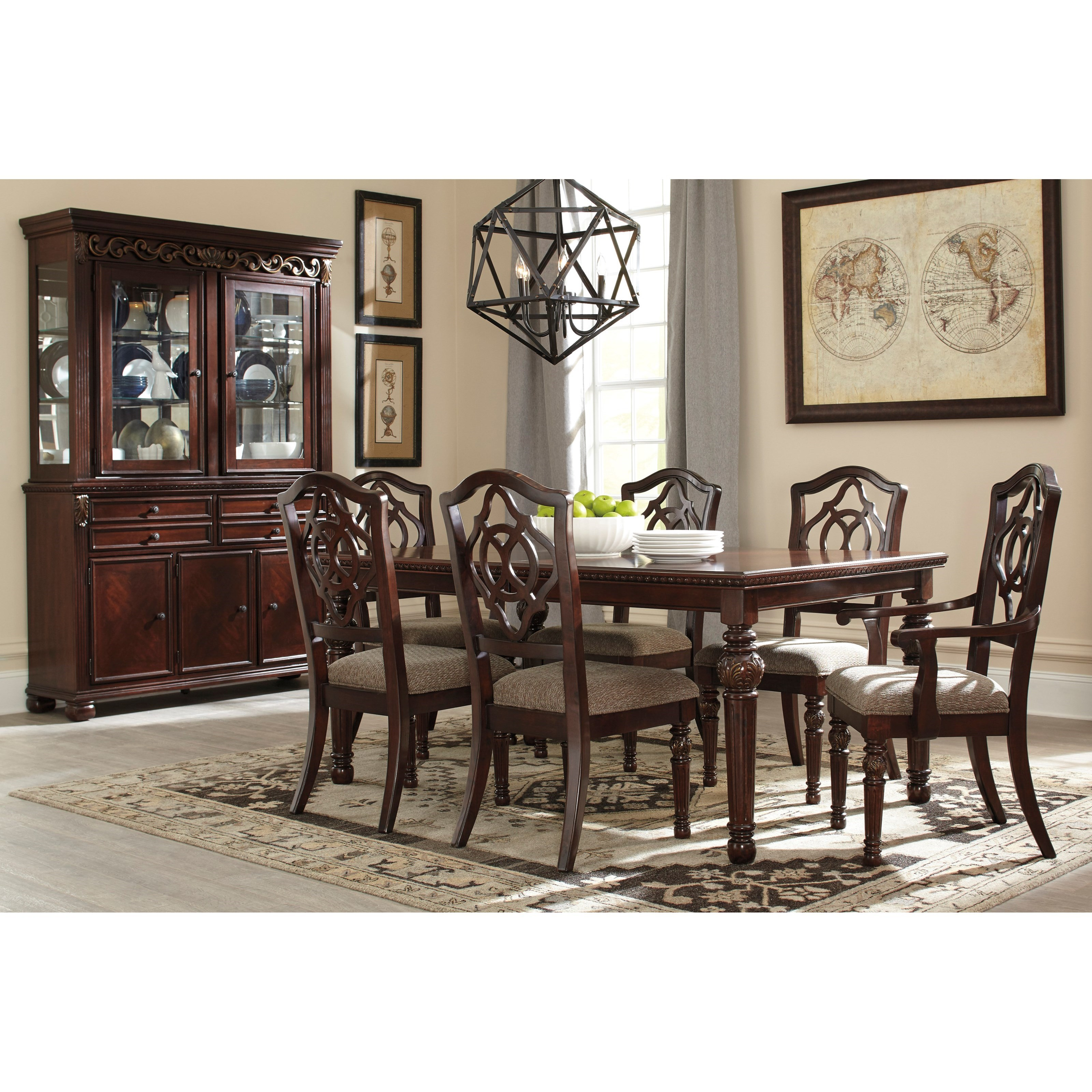 signature design by ashley leahlyn formal dining room. Black Bedroom Furniture Sets. Home Design Ideas