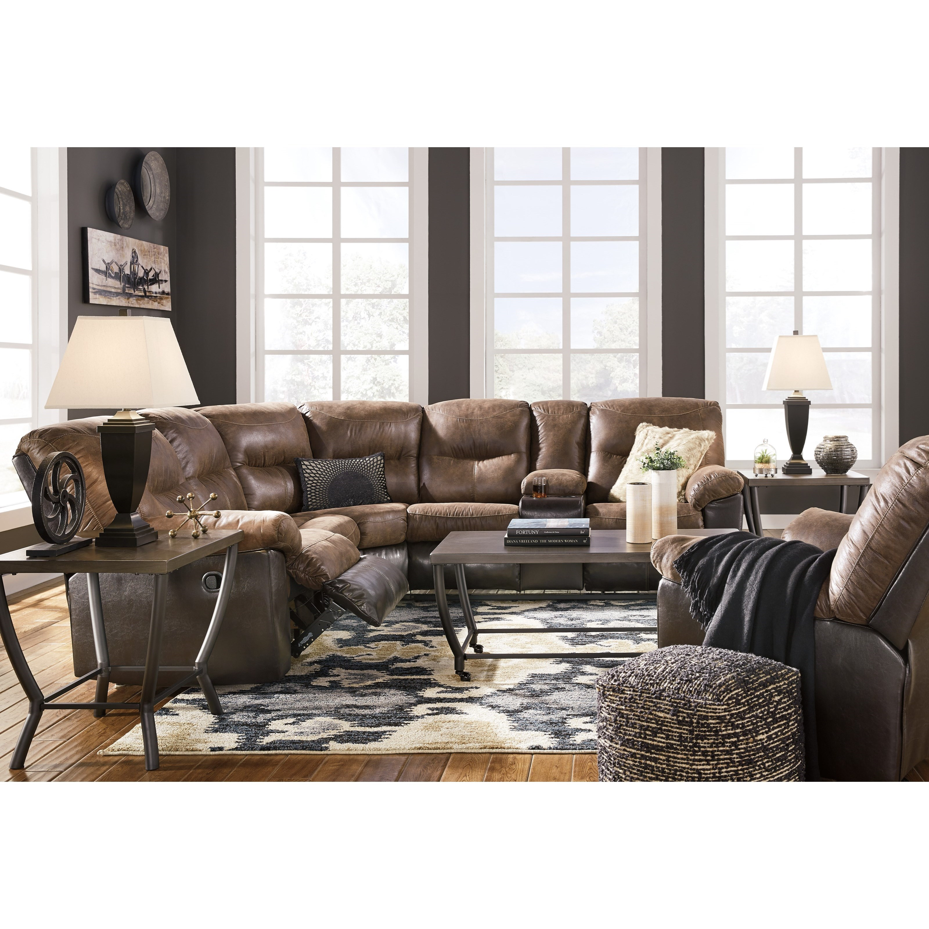Signature design by ashley leonberg living room group for Living room furniture groups