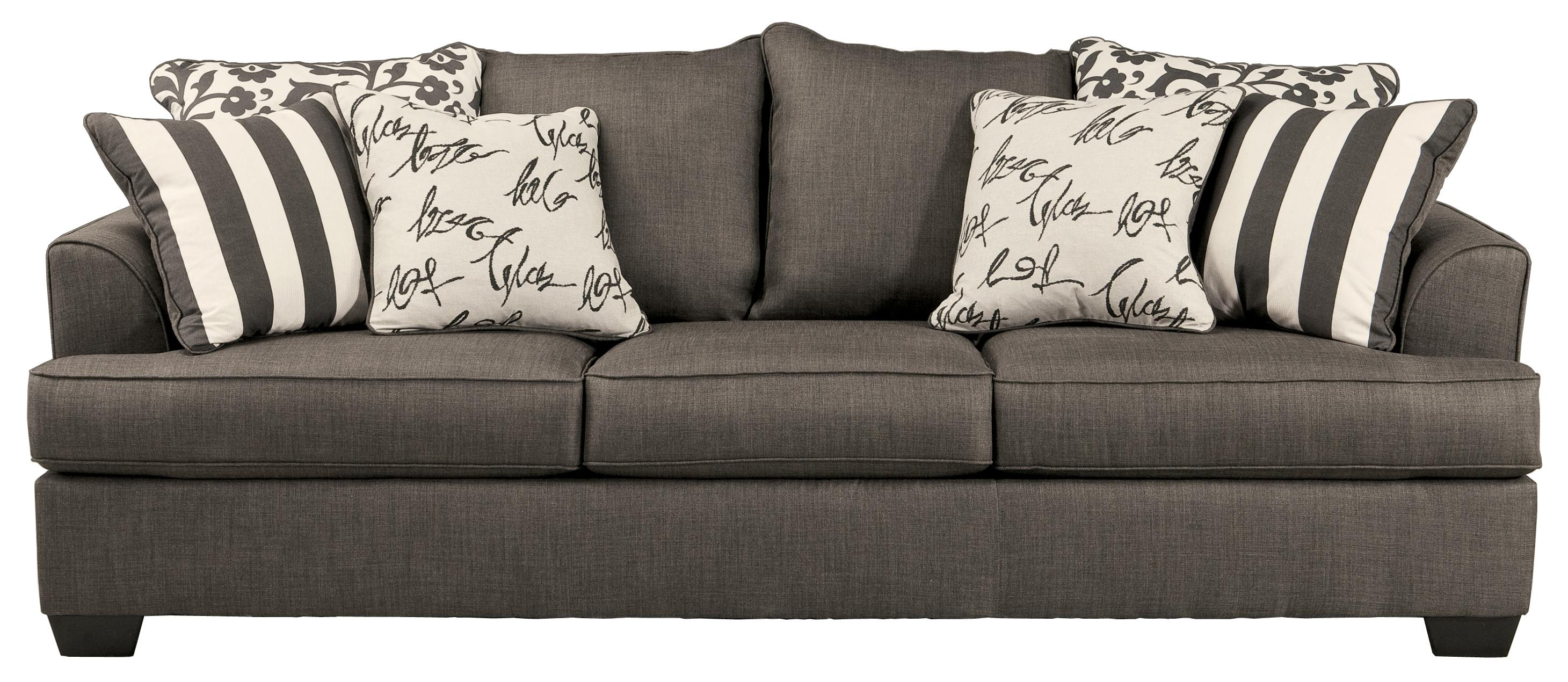 Throw Pillows For Charcoal Couch : Burgis Design Levon - Charcoal Sofa with Scatterback Pillows and Plush Coil Seat Cushions ...