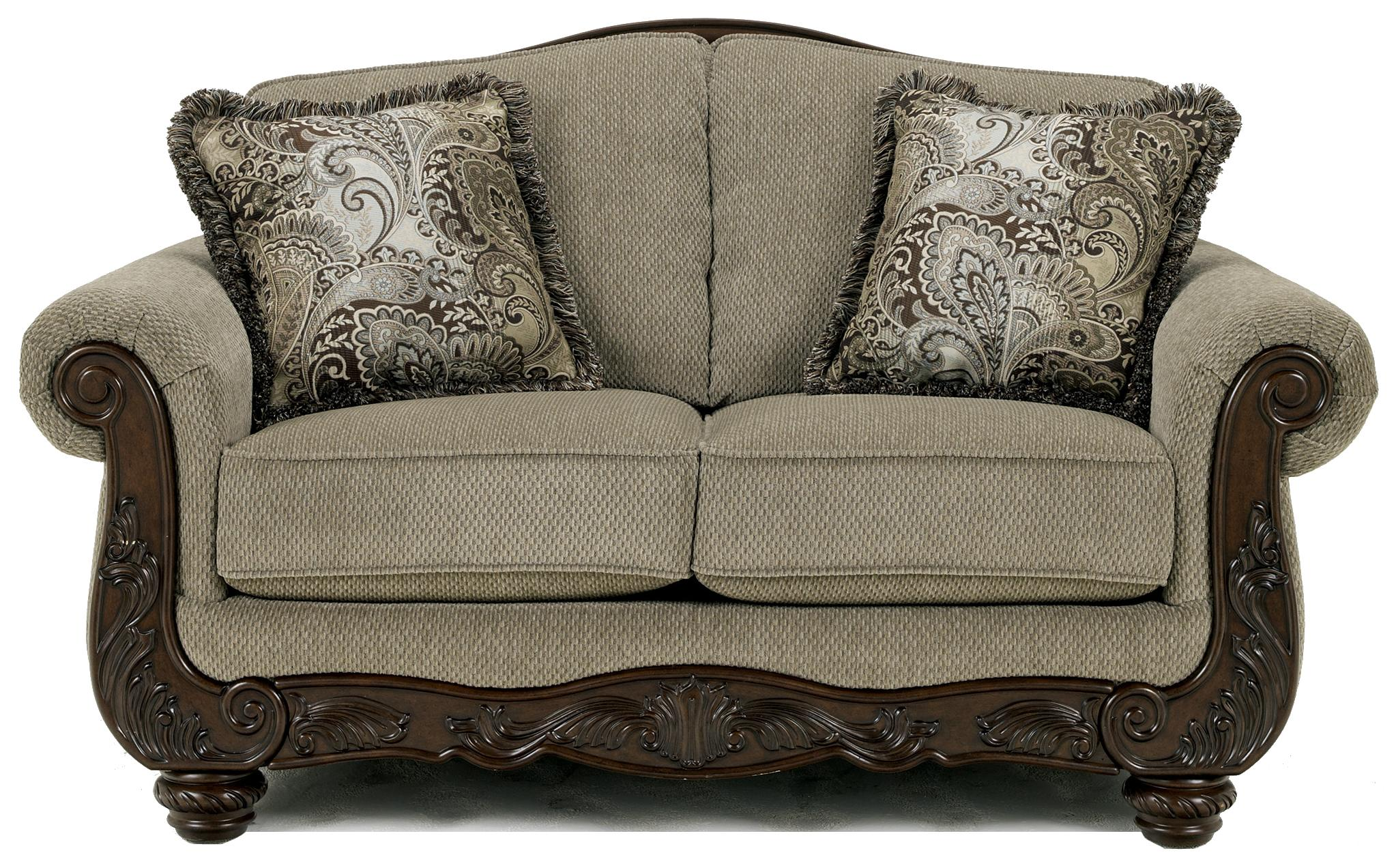 Ashley signature design martinsburg meadow 5730035 for Traditional loveseat