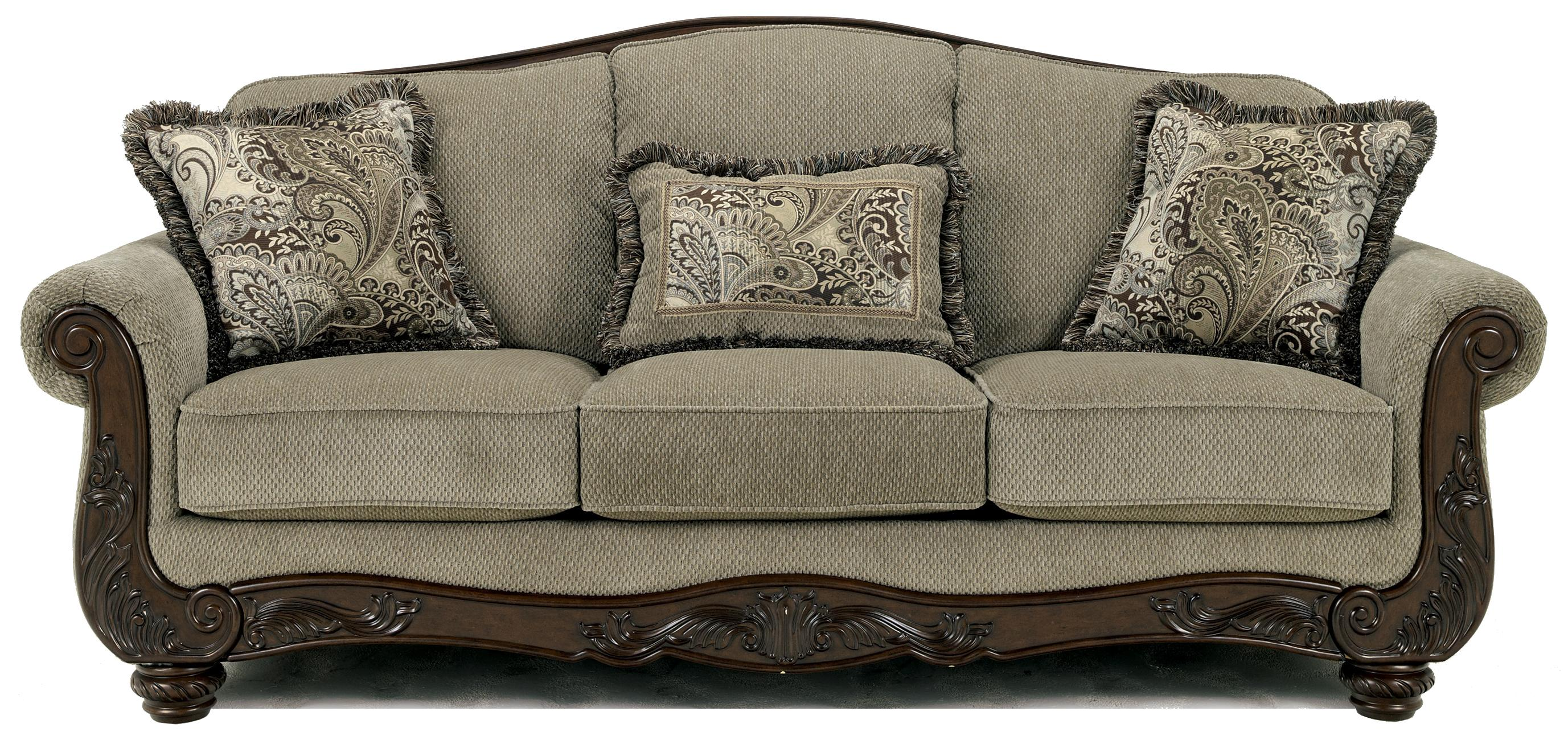 Signature design by ashley martinsburg meadow 5730038 for Traditional couches