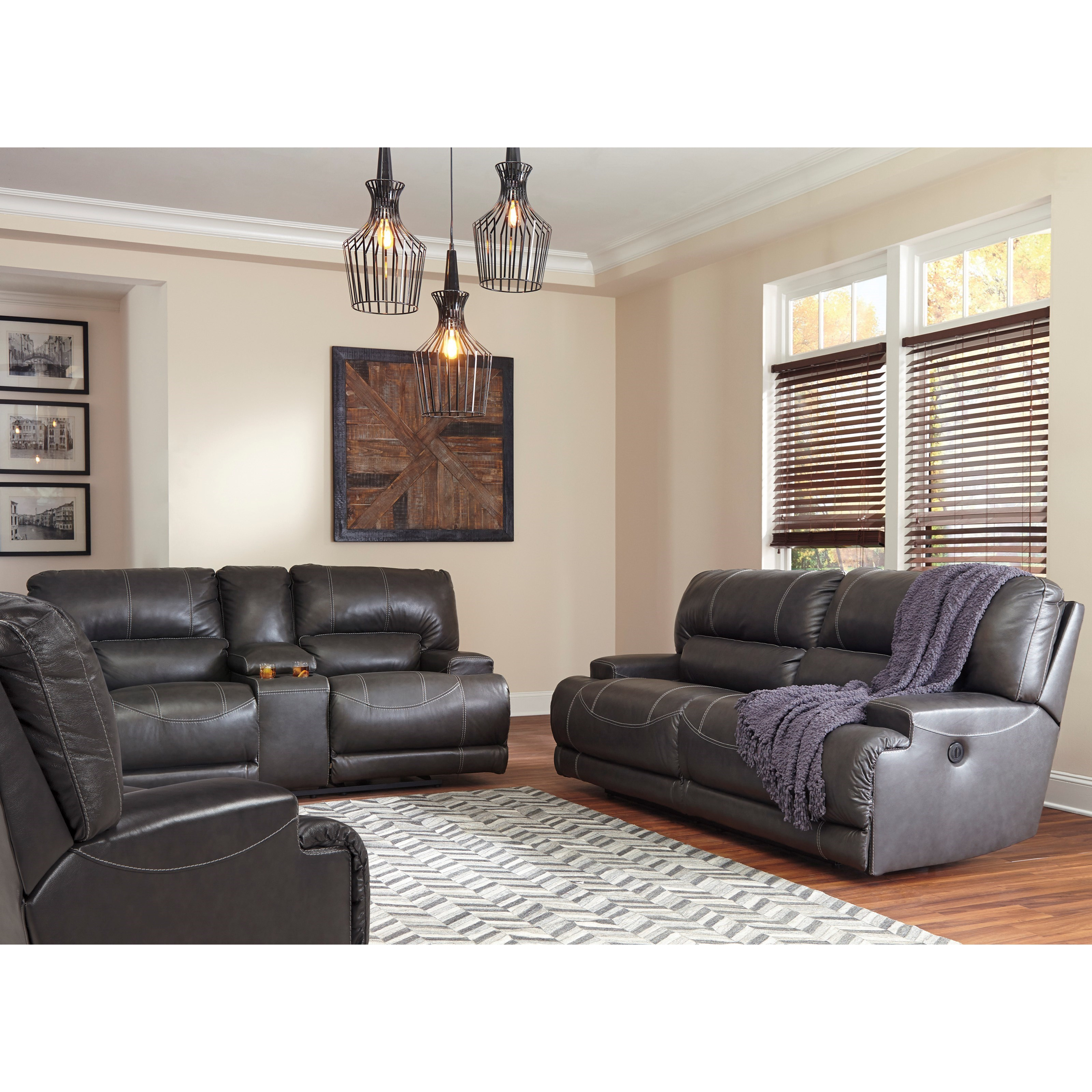 Ashley signature design mccaskill reclining living room for Living room furniture groups