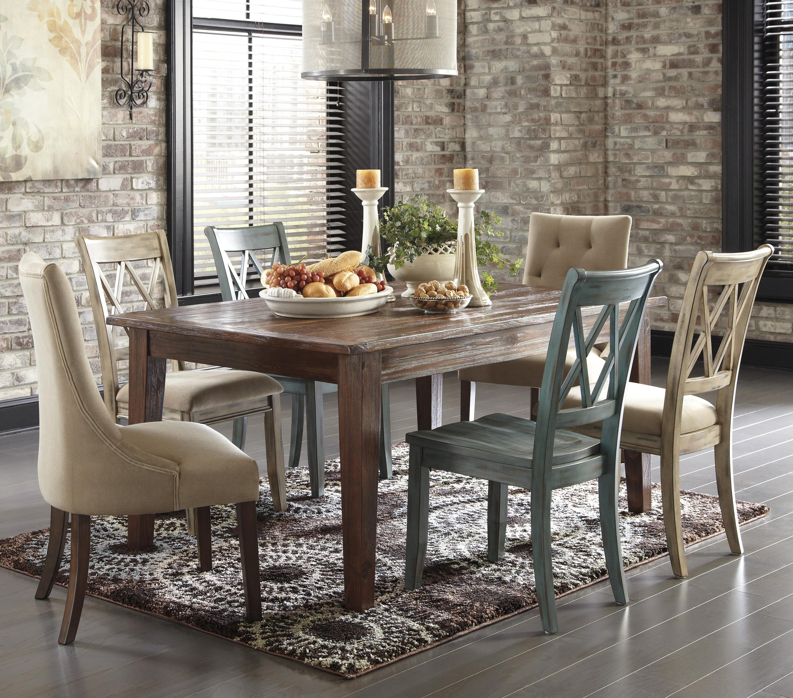 Signature Design By Ashley Furniture Mestler 7 Piece Table