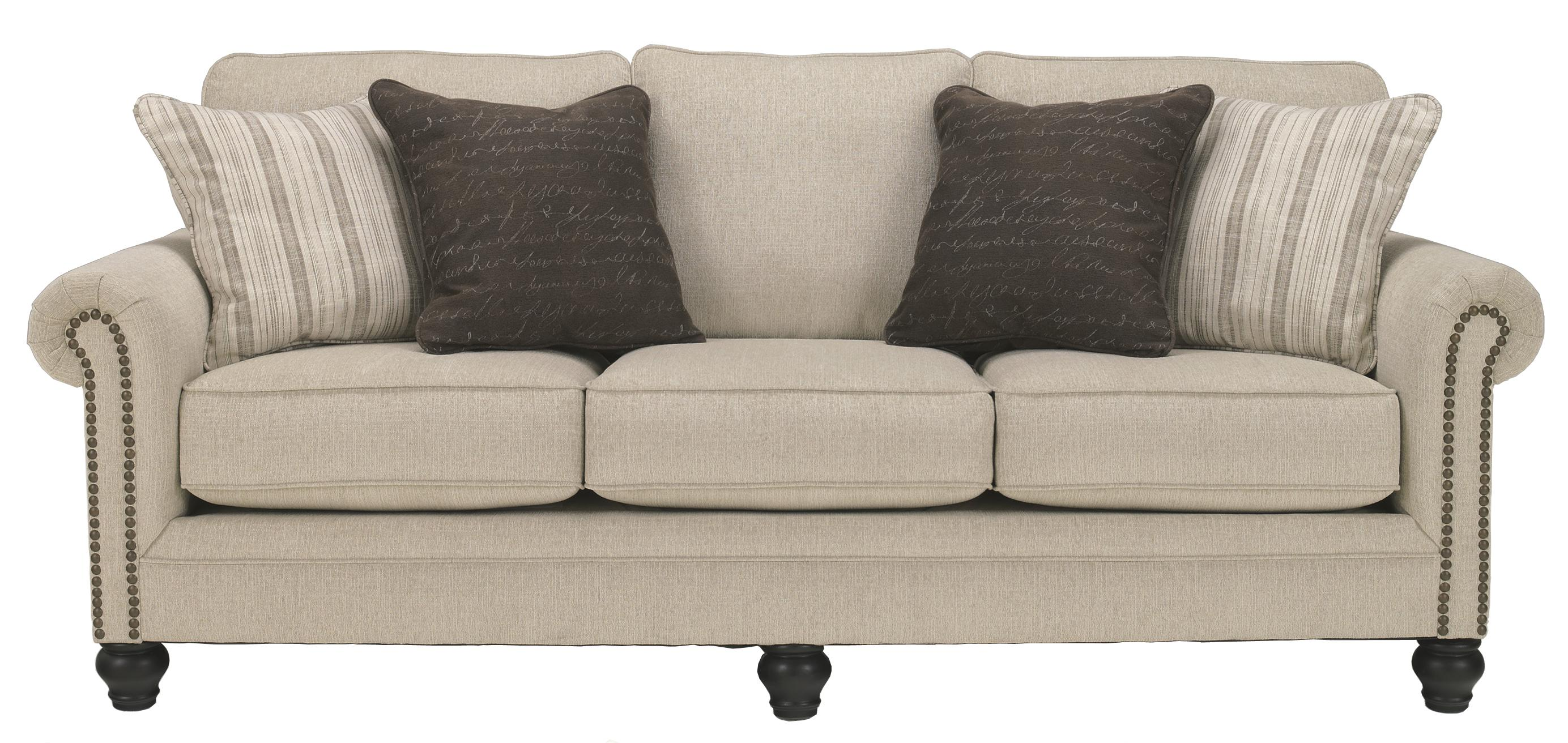 Ashley signature design milari linen transitional for Ashley sleeper sofa