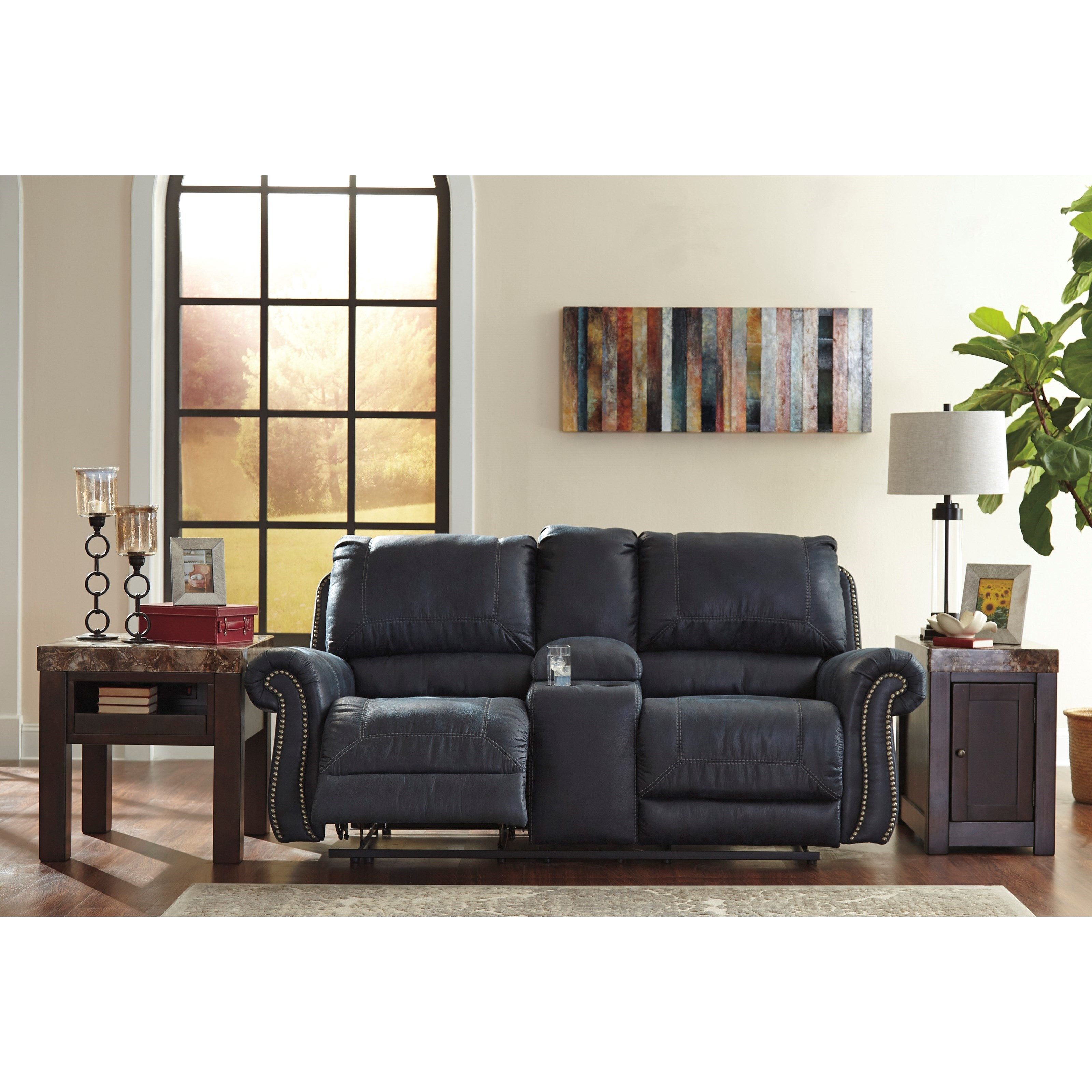 Signature Design by Ashley Milhaven Double Reclining Power
