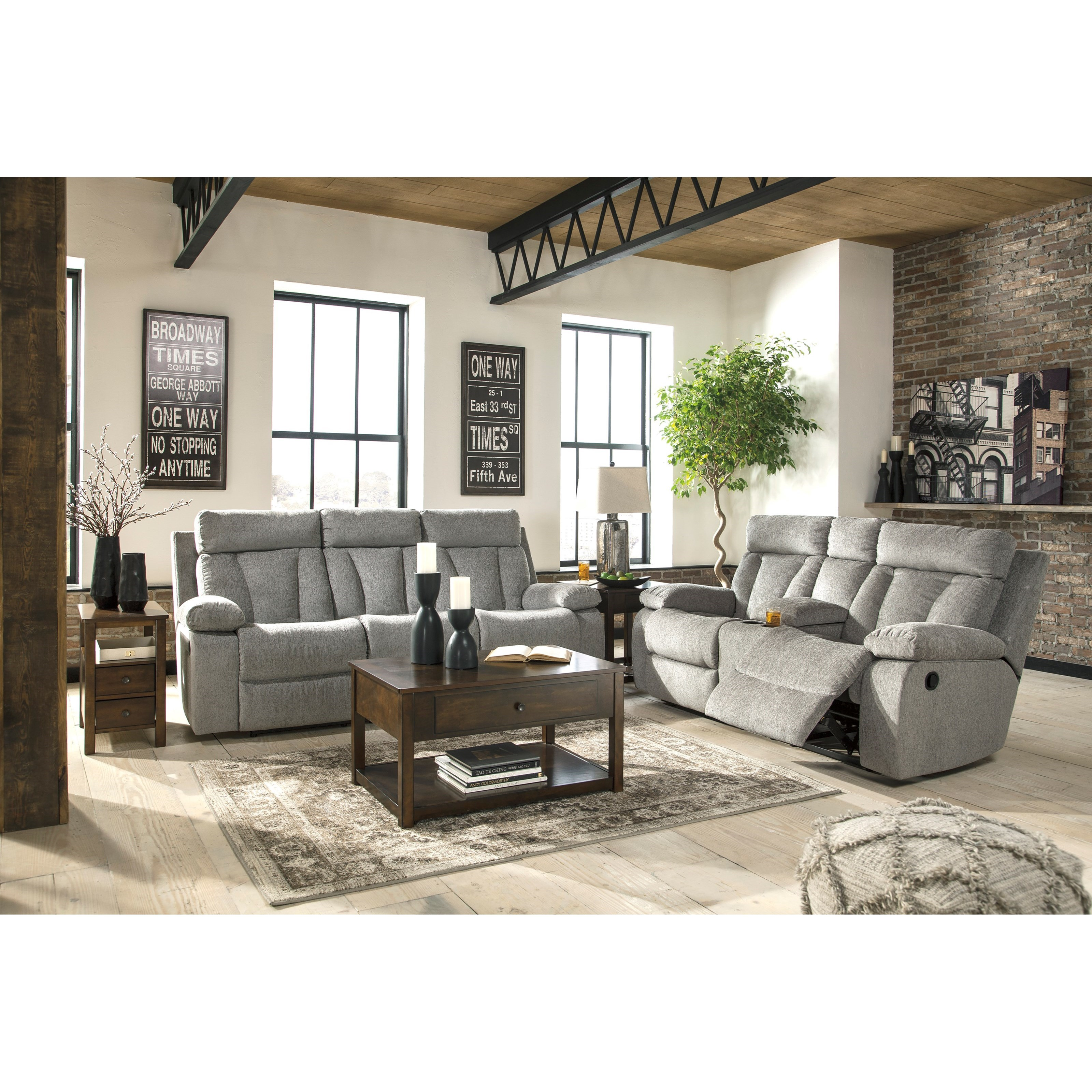 Signature Design By Ashley Mitchiner Reclining Living Room Group Royal Furniture Reclining