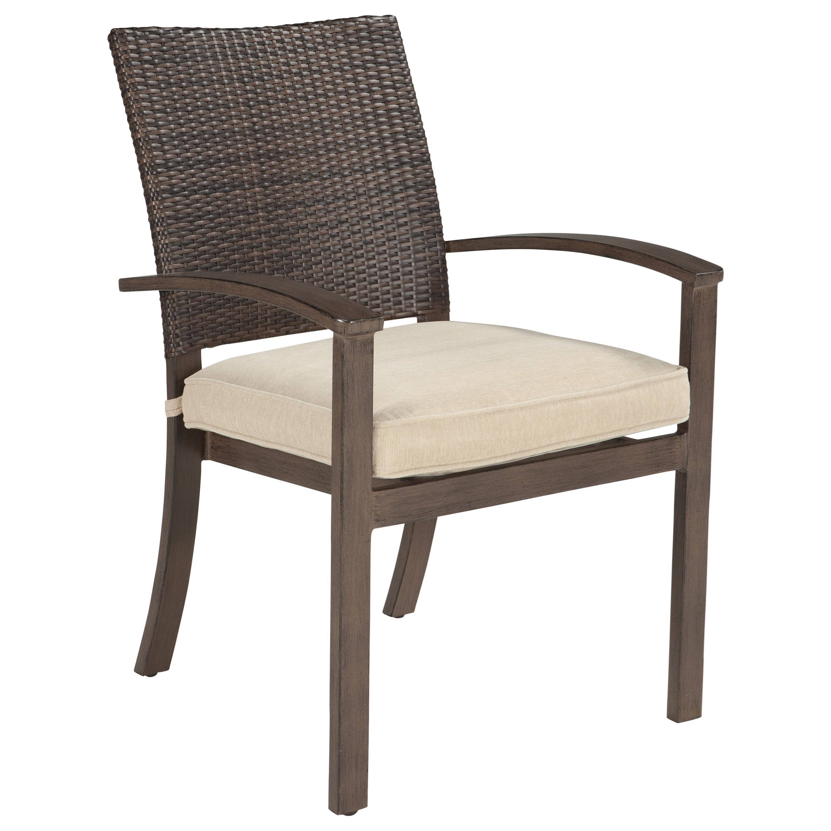 Ashley Signature Design Moresdale Set of 4 Outdoor Chairs with Cushion Dunk