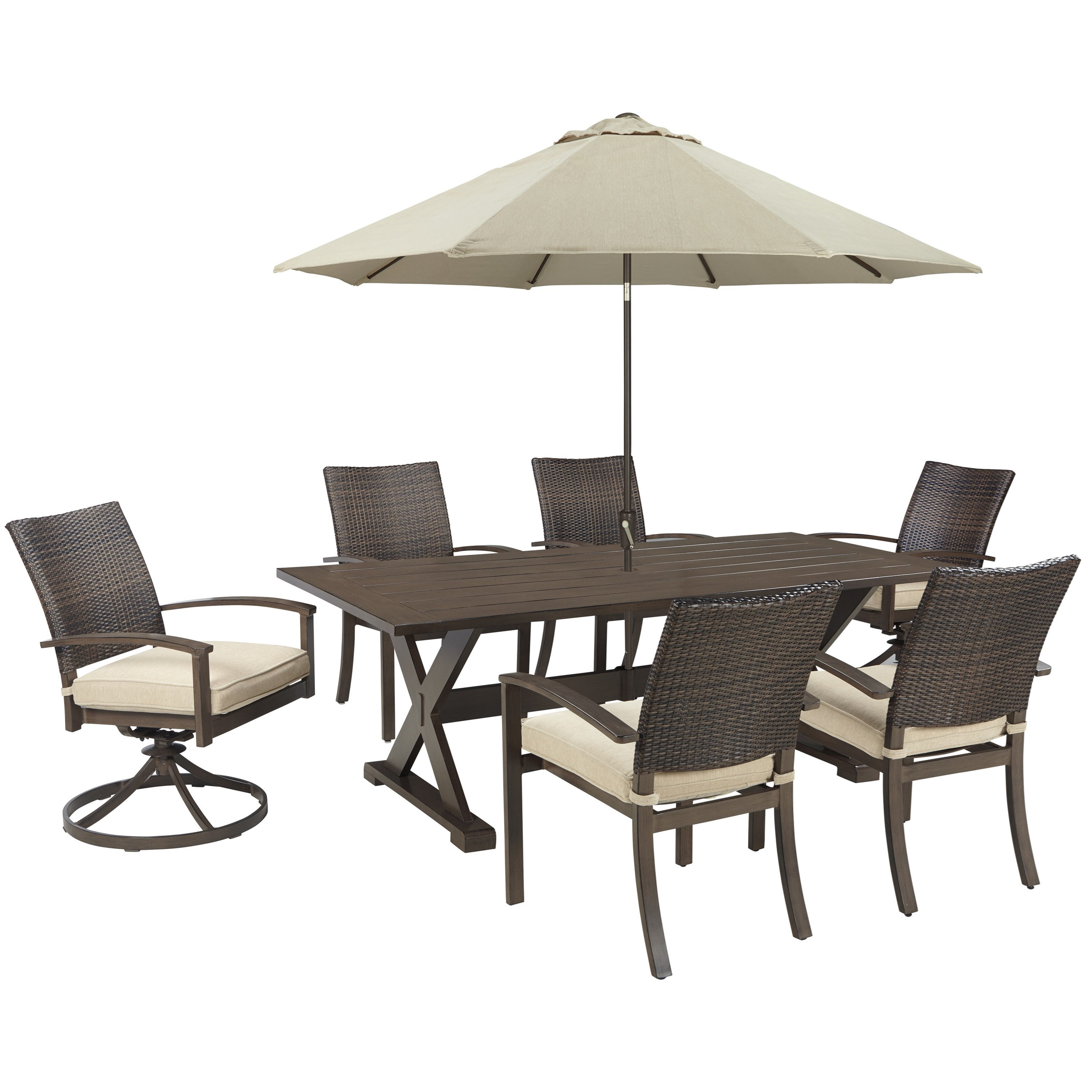 Signature design by ashley moresdale outdoor dining set for Outdoor dining