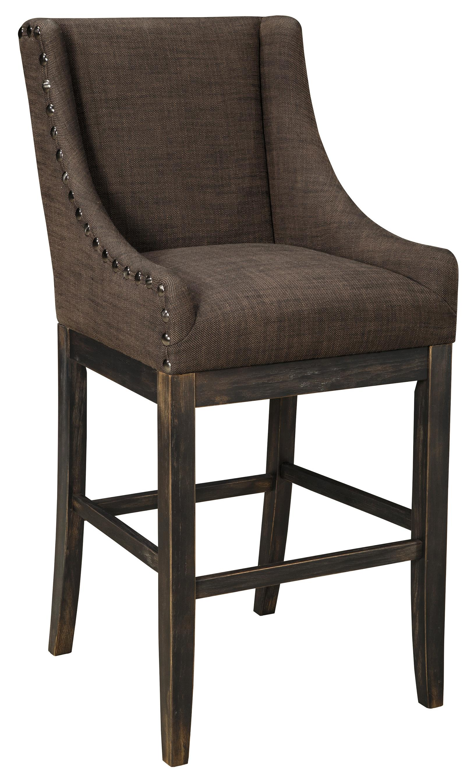 Signature design by ashley moriann tall upholstered for Counter stool